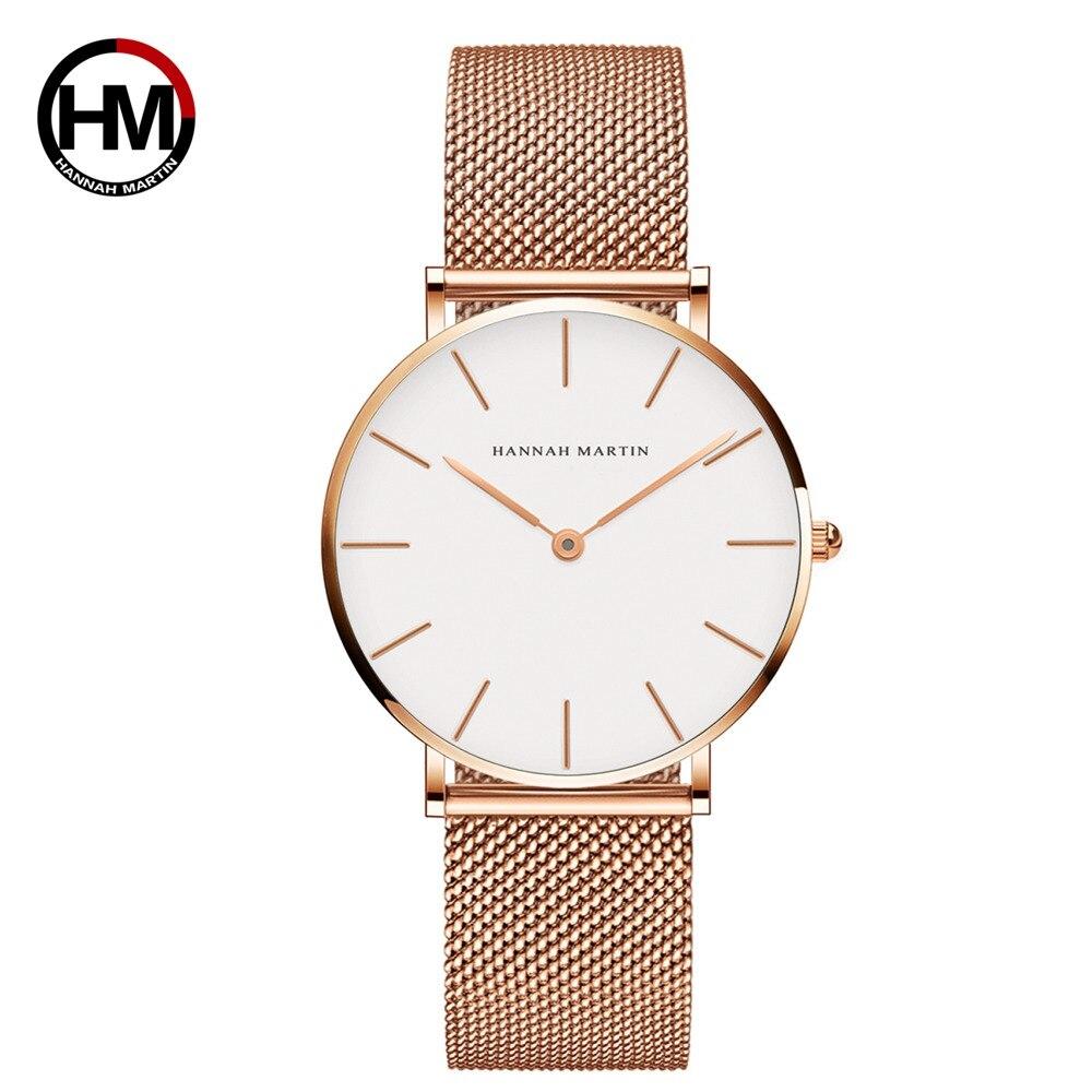 クォーツムーブメント防水ブルーレディース腕時計ステンレス鋼バンドシンプルなデザインのクラシック腕時計女性CB36WFF