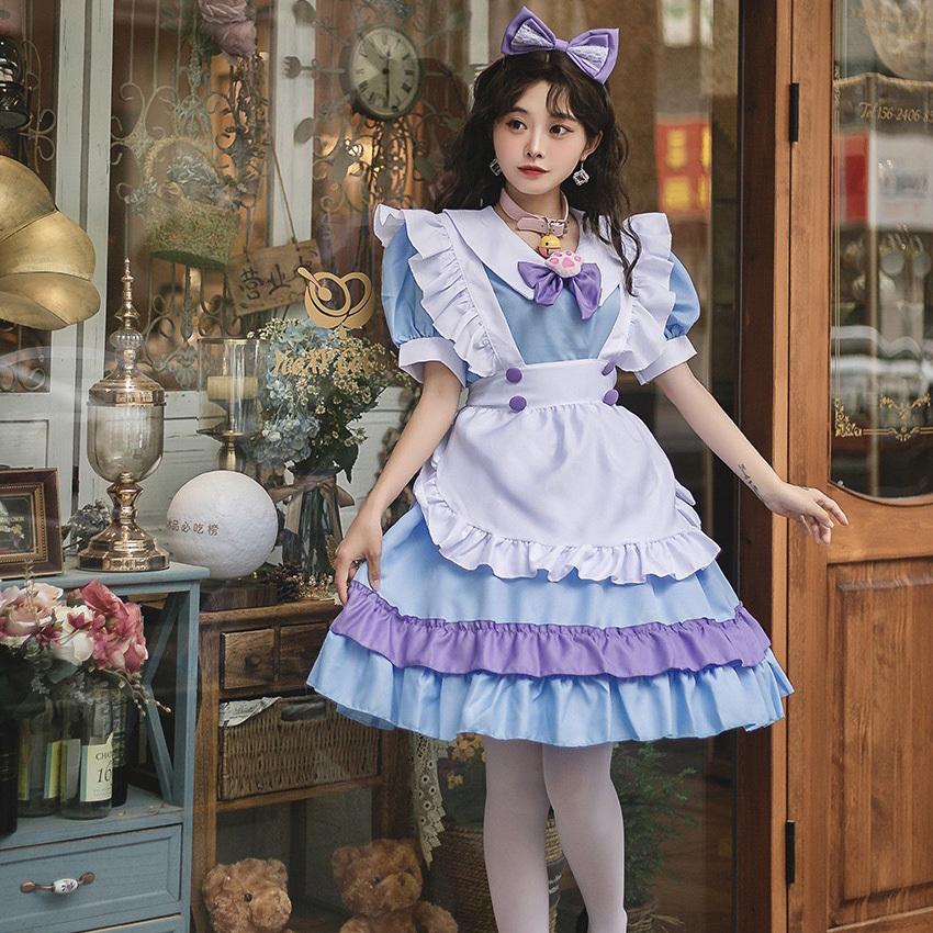 【8点セット】ハロウィン メイド かわいい ミニドレス キャバドレス 新作 MY2102
