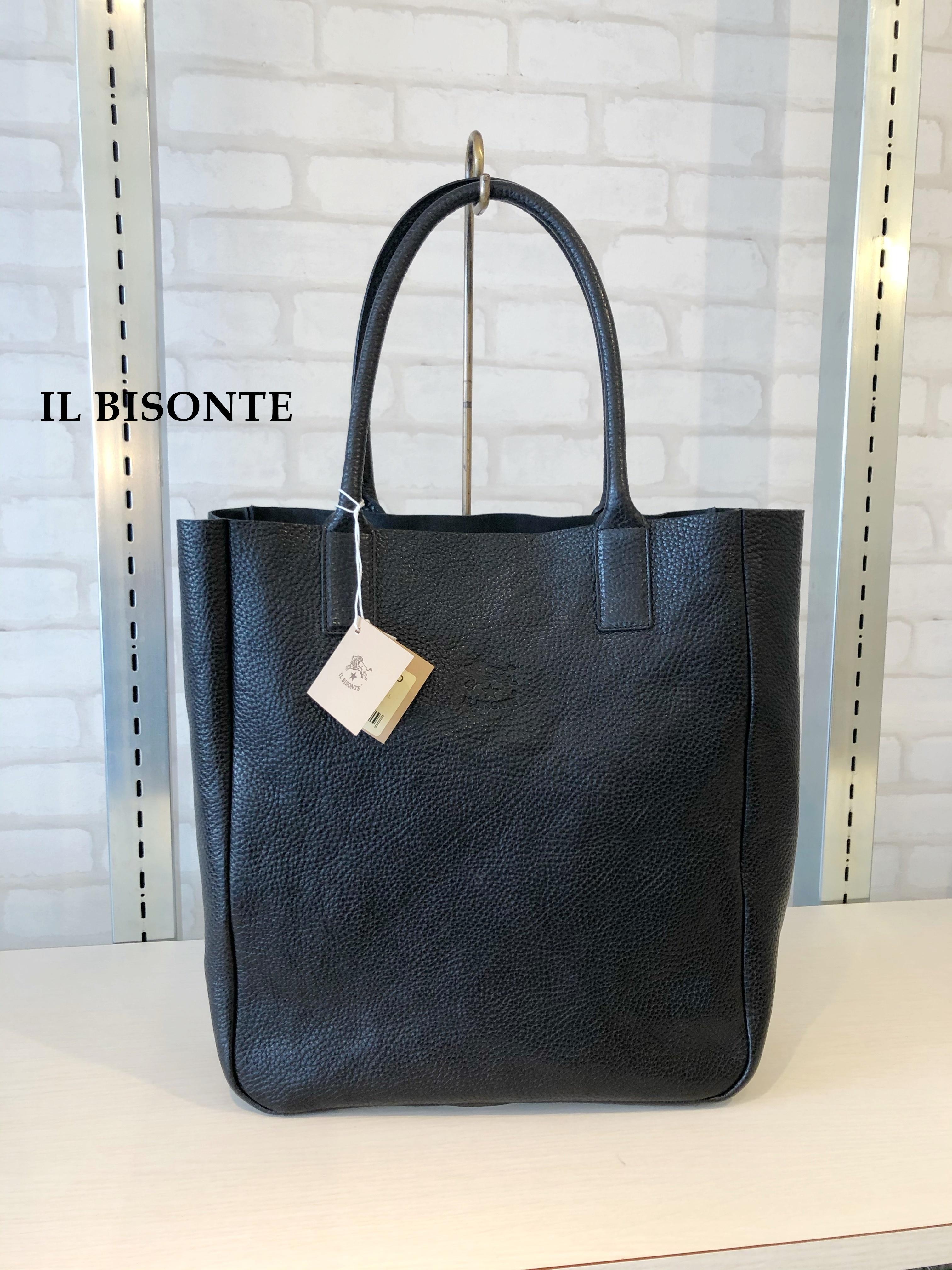 IL BISONTE(イルビゾンテ)/縦長トートバッグ/04114(ブラック)