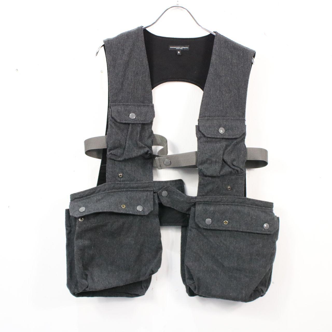 【美品】Engineered Garments / エンジニアドガーメンツ   shooting vest-wool serge- ウールシューティングベスト   S   グレー