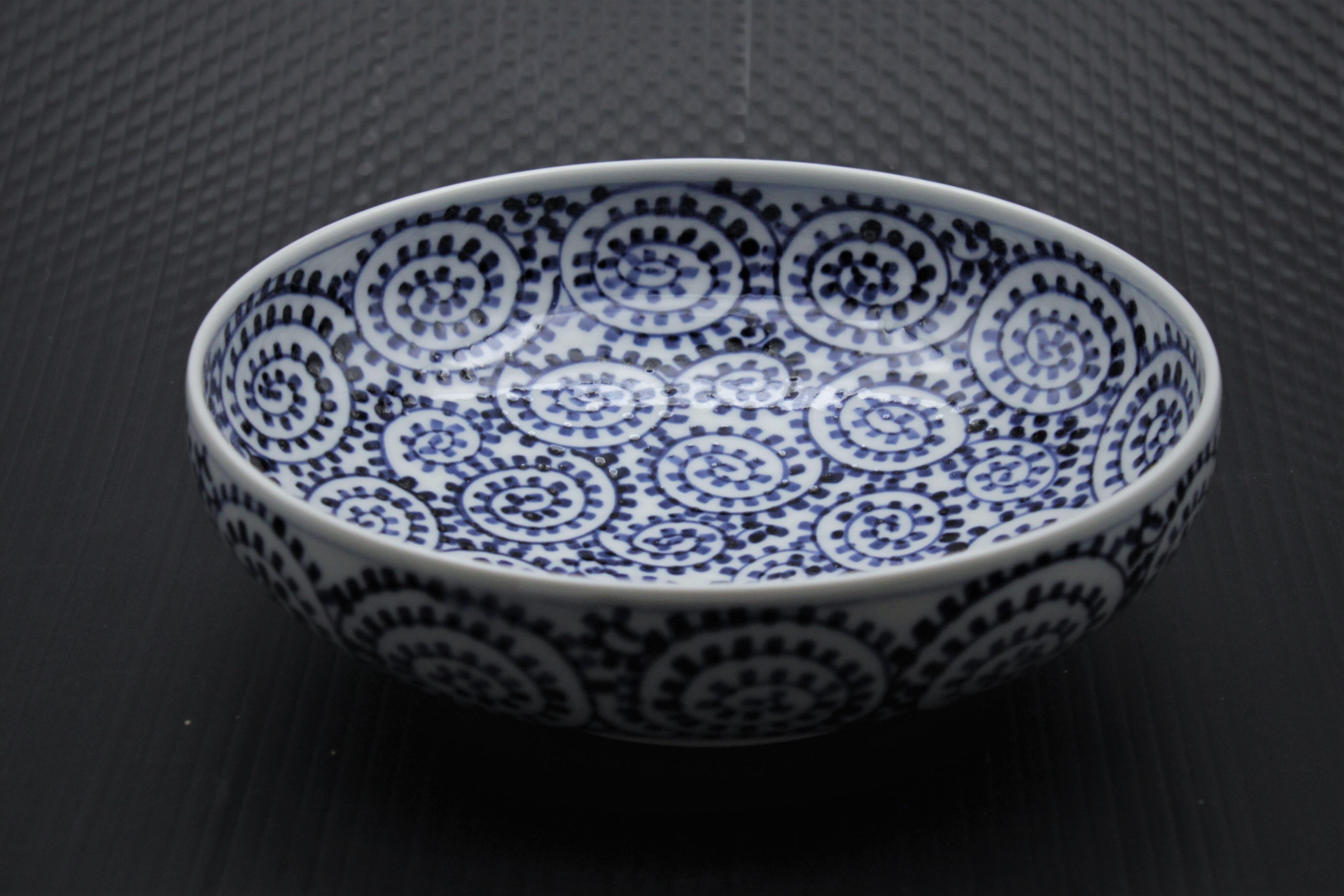 タコ唐草6寸鉢