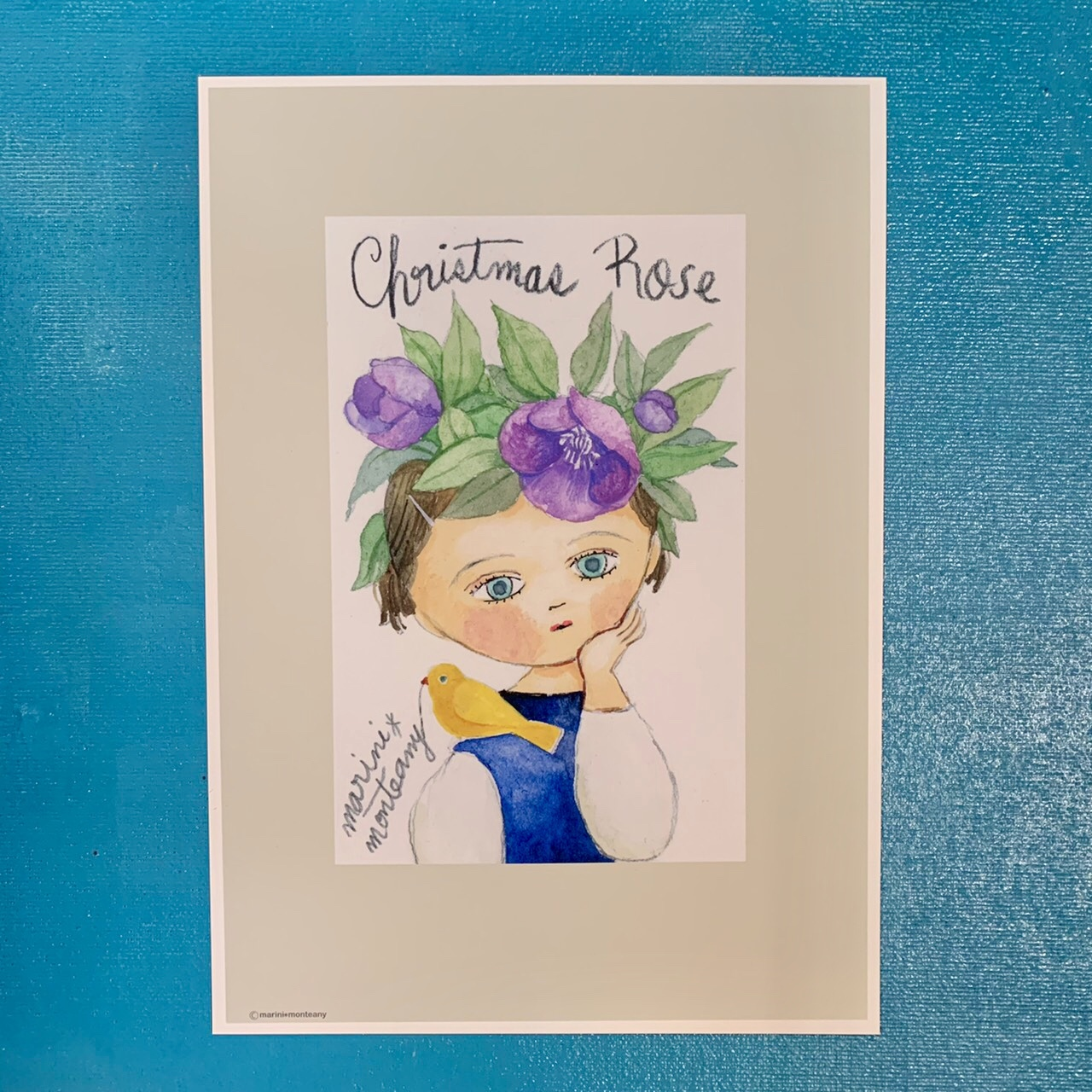 A4 POSTER「Christmas rose」