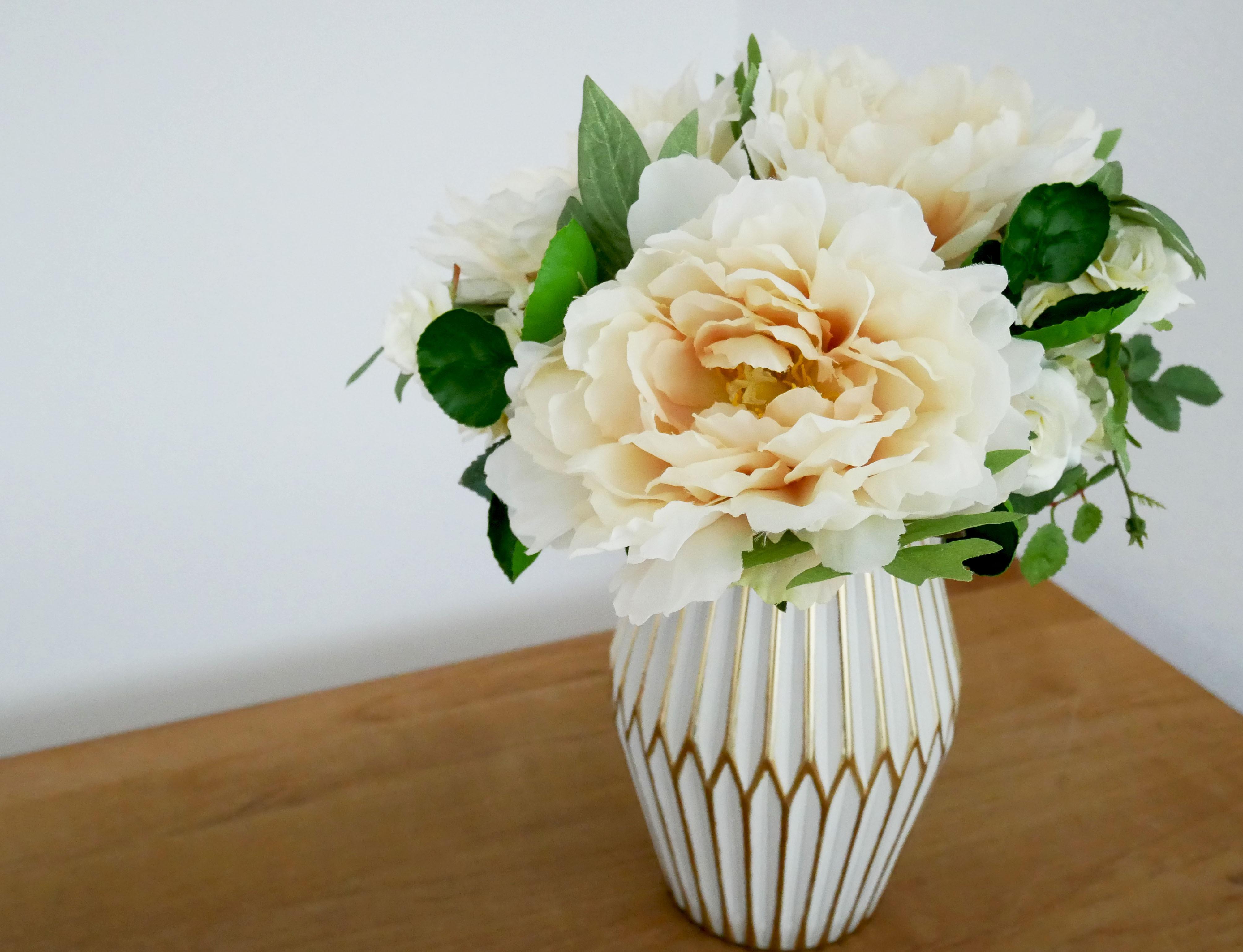 Artificial flower*Simple arrangement*Peony small(造花アレンジメント*器付き*ピオニー 01)