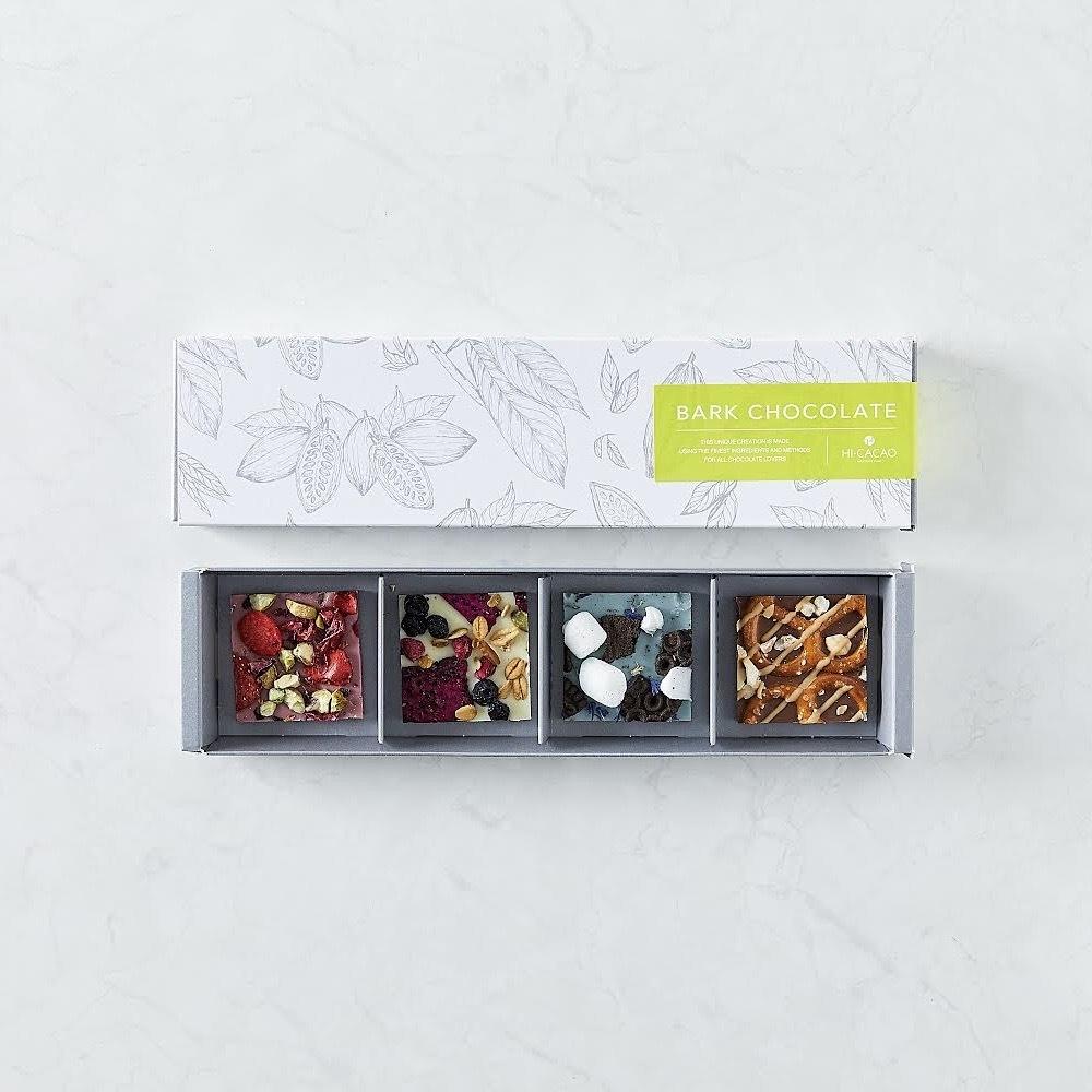 【HI-CACAO】<春ギフト限定> バークチョコレート - 4種アソートボックス - 春カラーパッケージ 【チョコレート】【ハイカカオ】【贈り物】【春ギフト】【ギフト】【ご褒美チョコ】