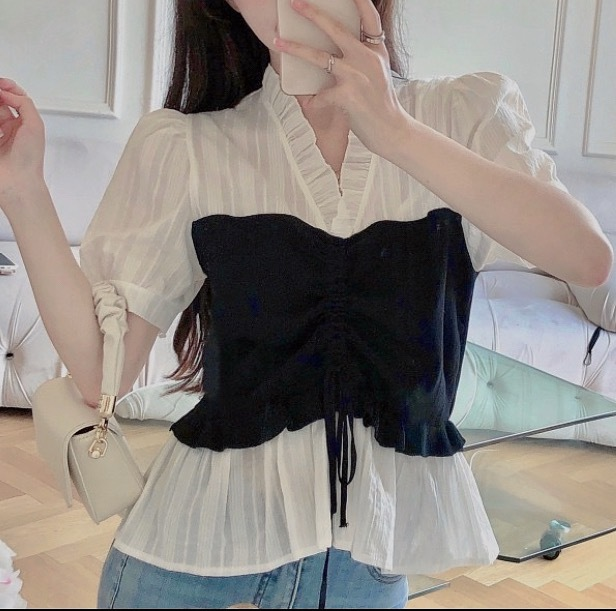 lace design tops 2type