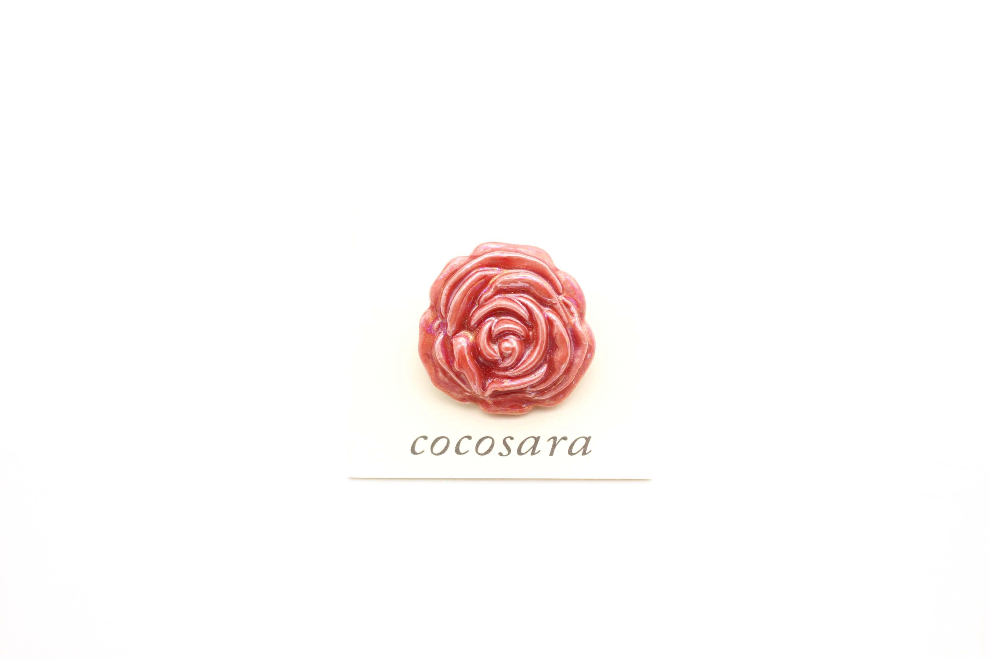 有田焼ブローチ バラ 8