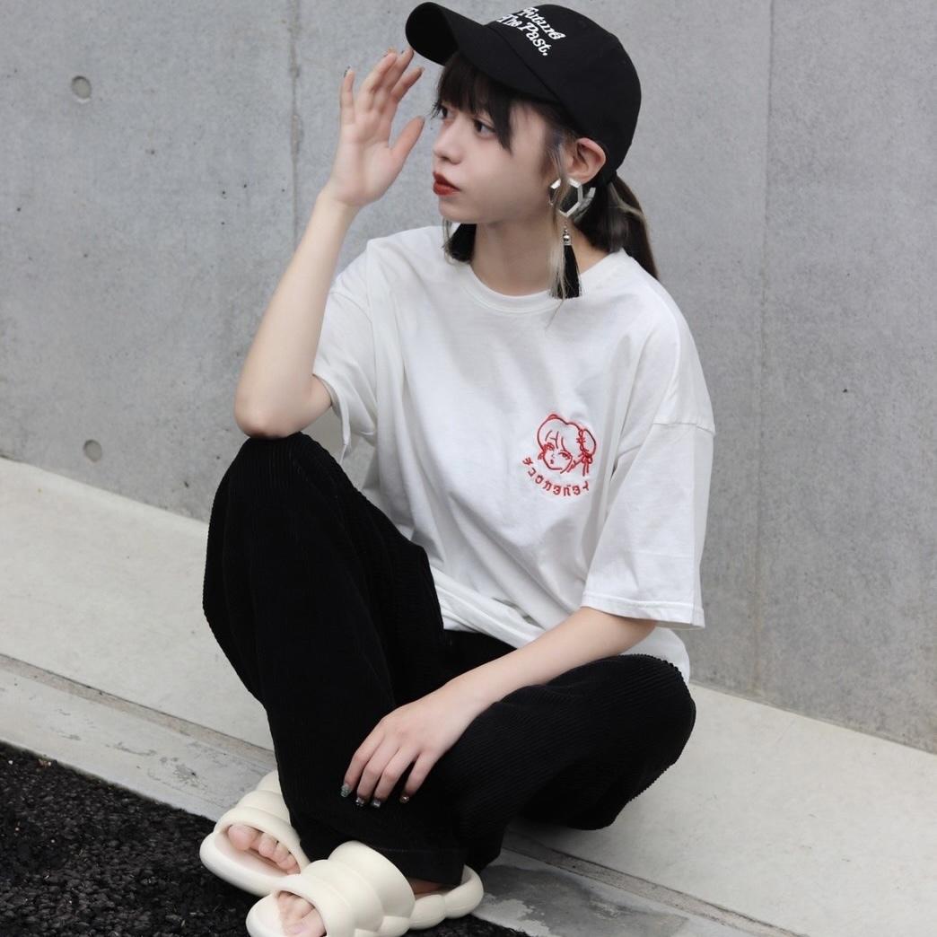 【unisex】再入荷!チュウカタベタイ LOGO T-shirt【White】