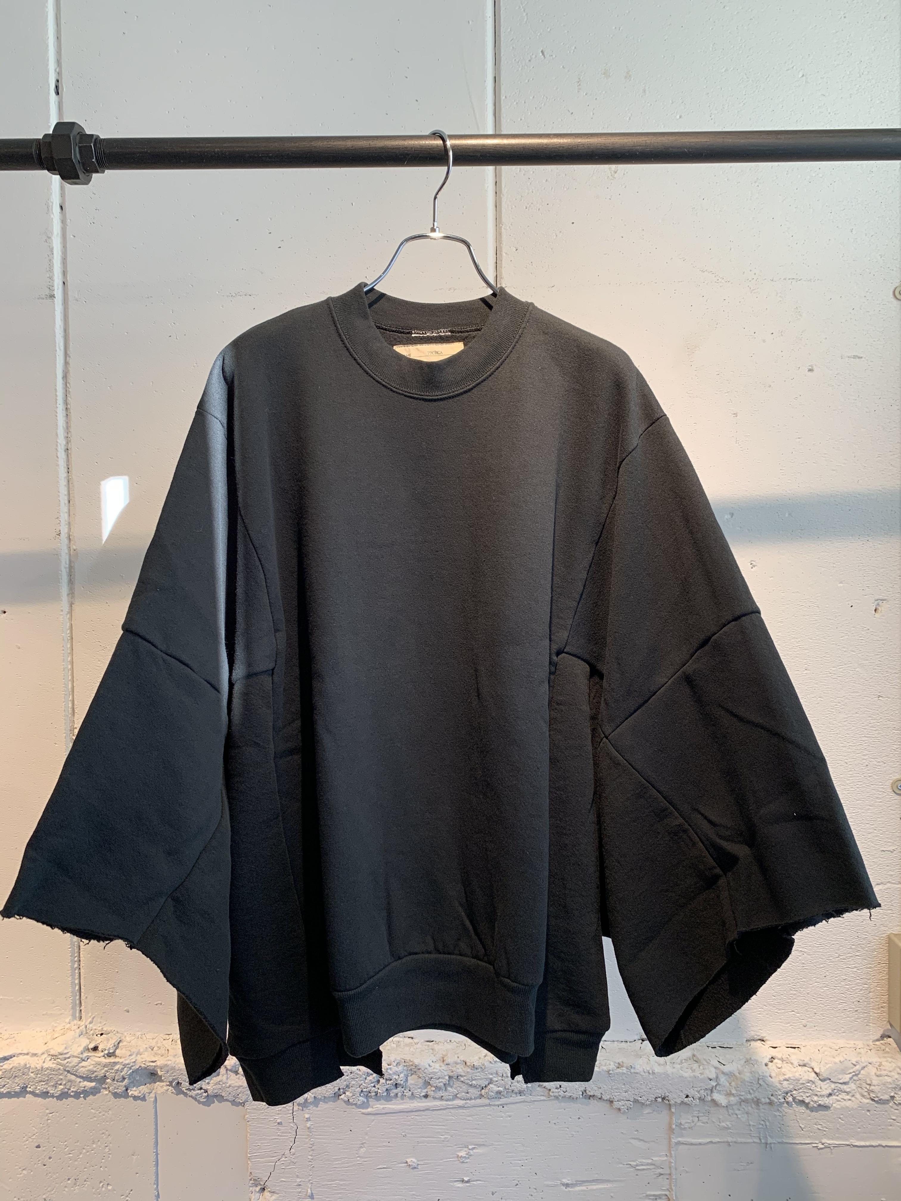 77CIRCA circa make wide set in short sleeve sweat top (Black) ②