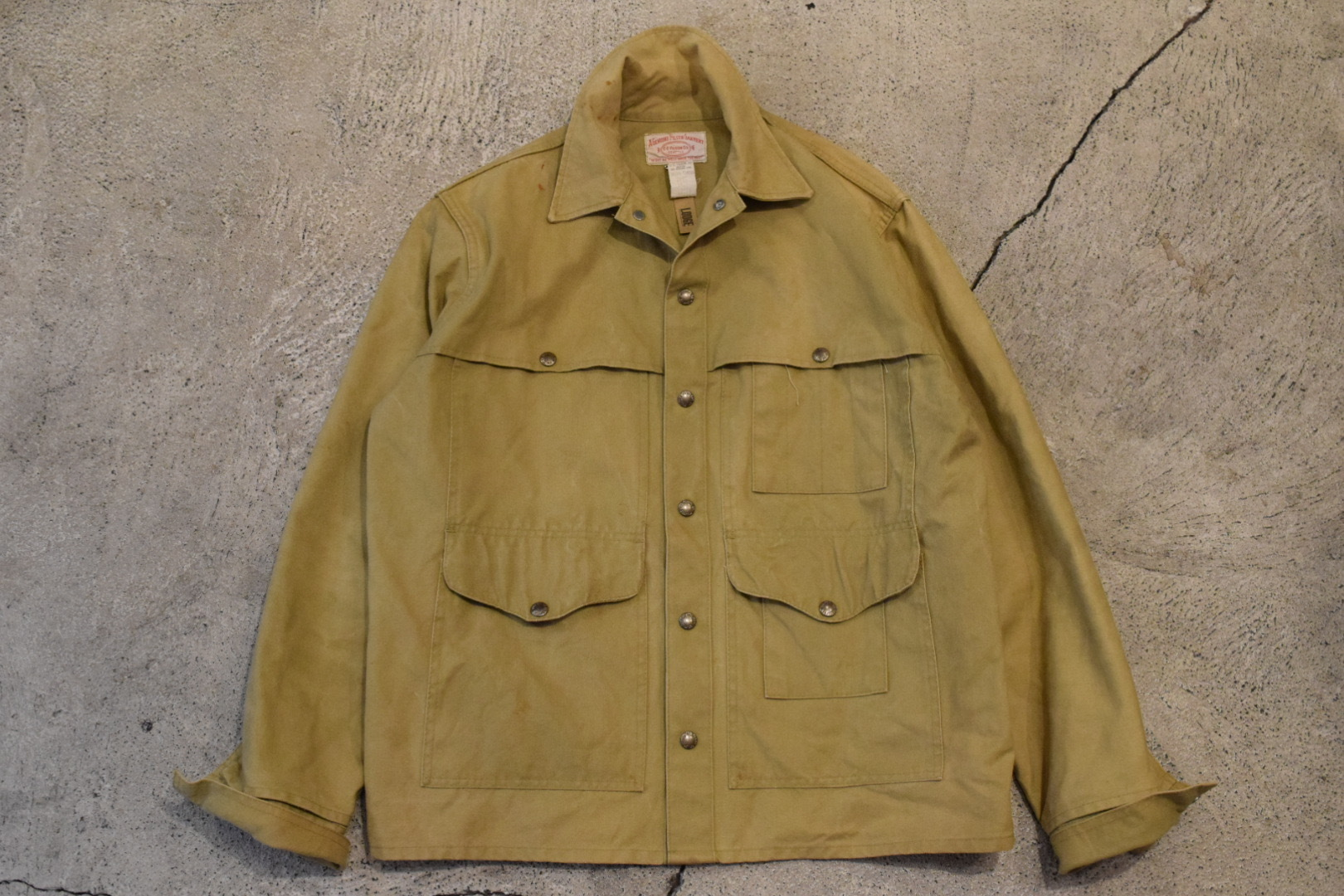 USED FILSON Tin Cloth Cotton Jacket 40 0873