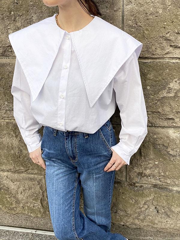 ビックカラーシャツ[Color:ホワイト]