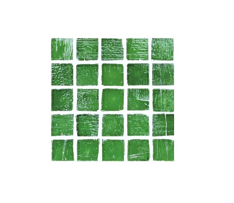 Staind Grass Mosaic【Teal/Natural】ステンドグラスモザイク【ティ-ル/ナチュラル】