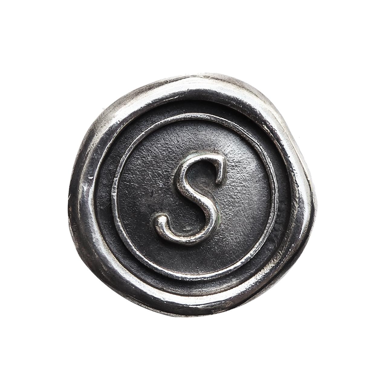 シーリングイニシャル S 〈S〉 シルバー / コンチョボタン