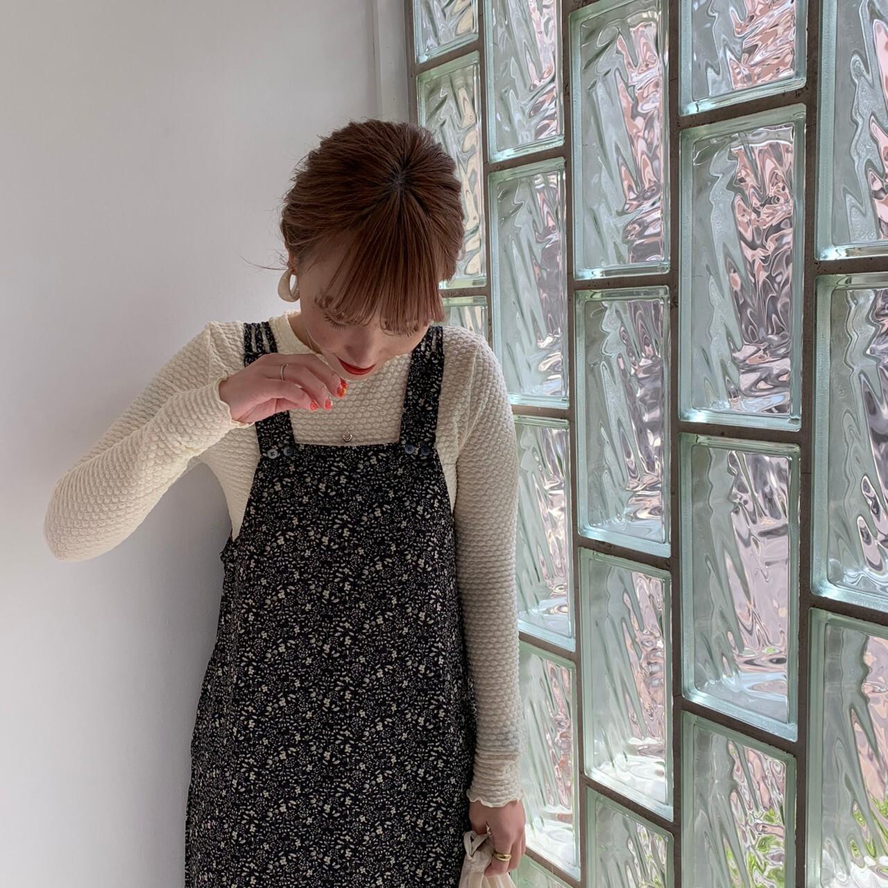 【asyu】flower salopette one-piece