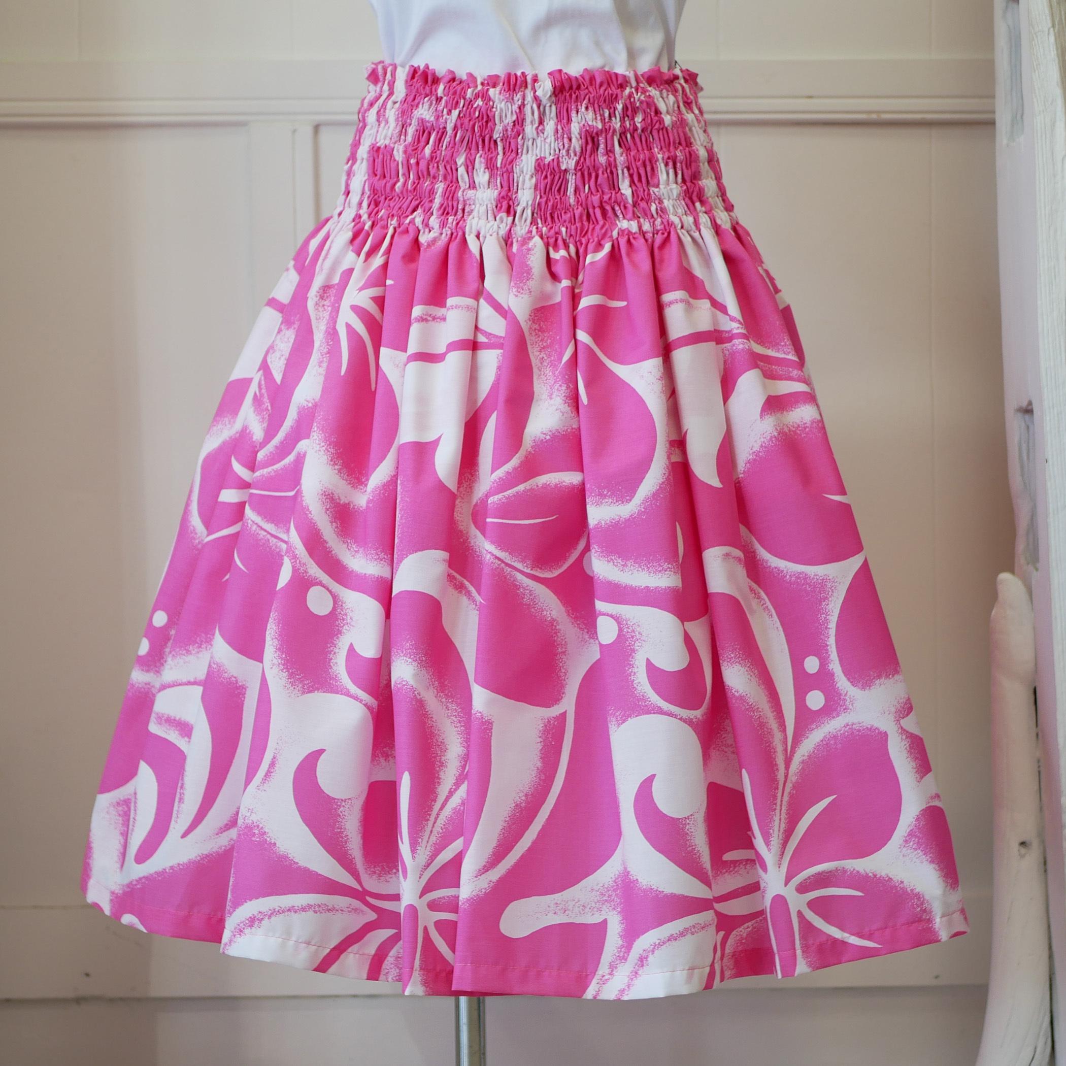 ピンク白ハワイアンファブリック パウスカート