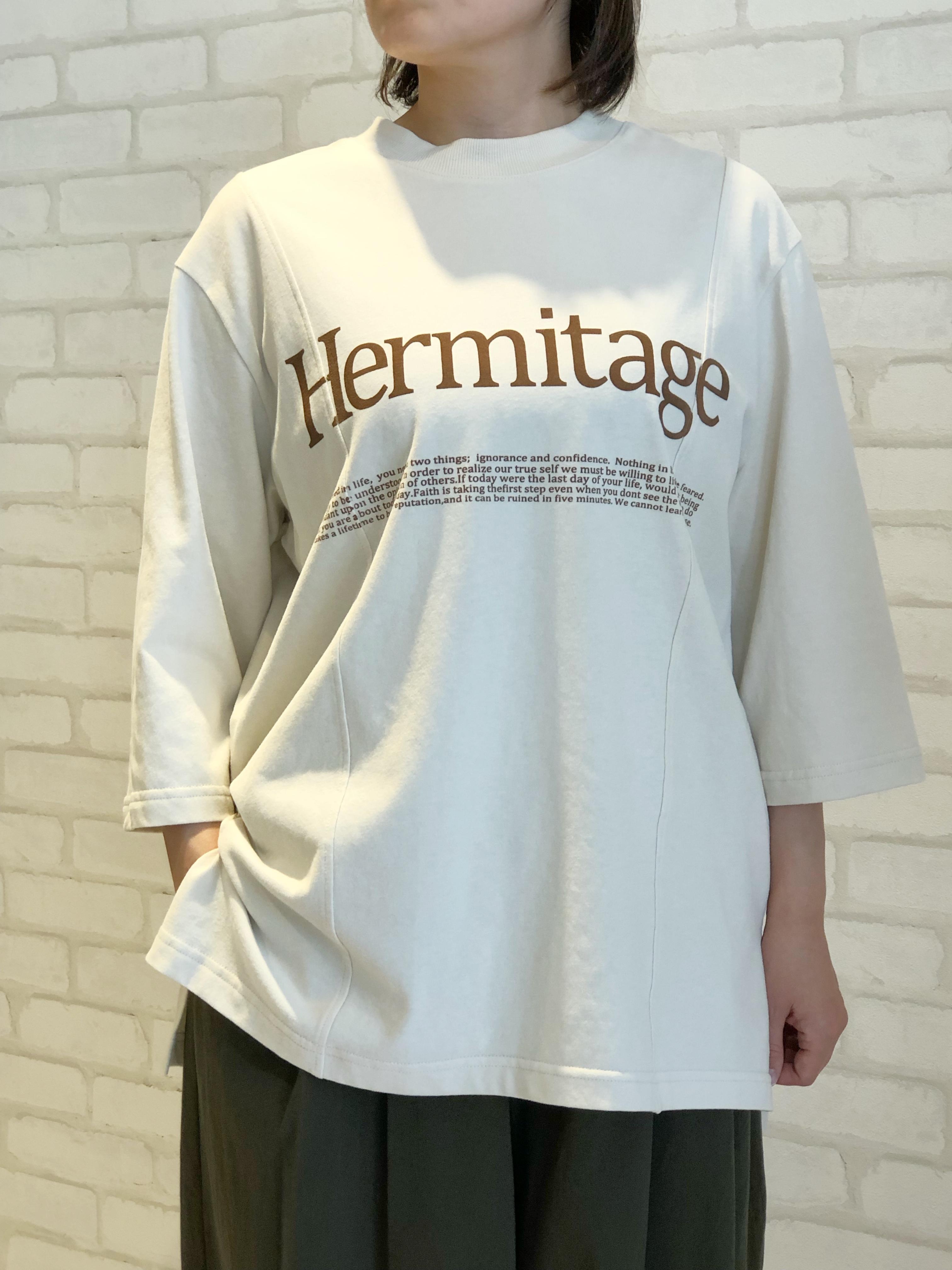 Lallia Mu/7分袖Tシャツ/2113471(ベージュ)