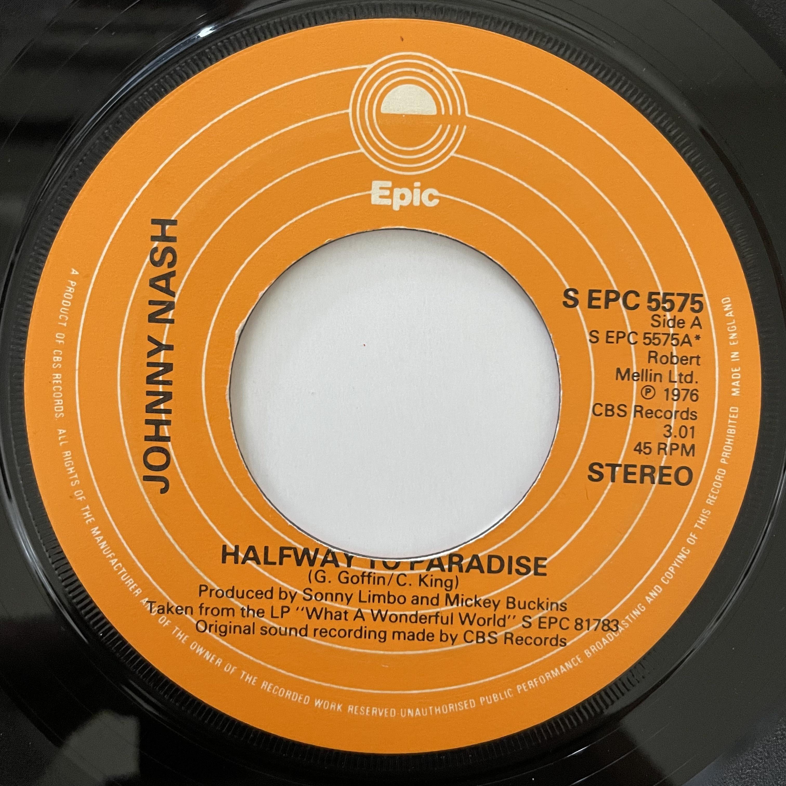 Johnny Nash - Halfway To Paradise【7-20719】