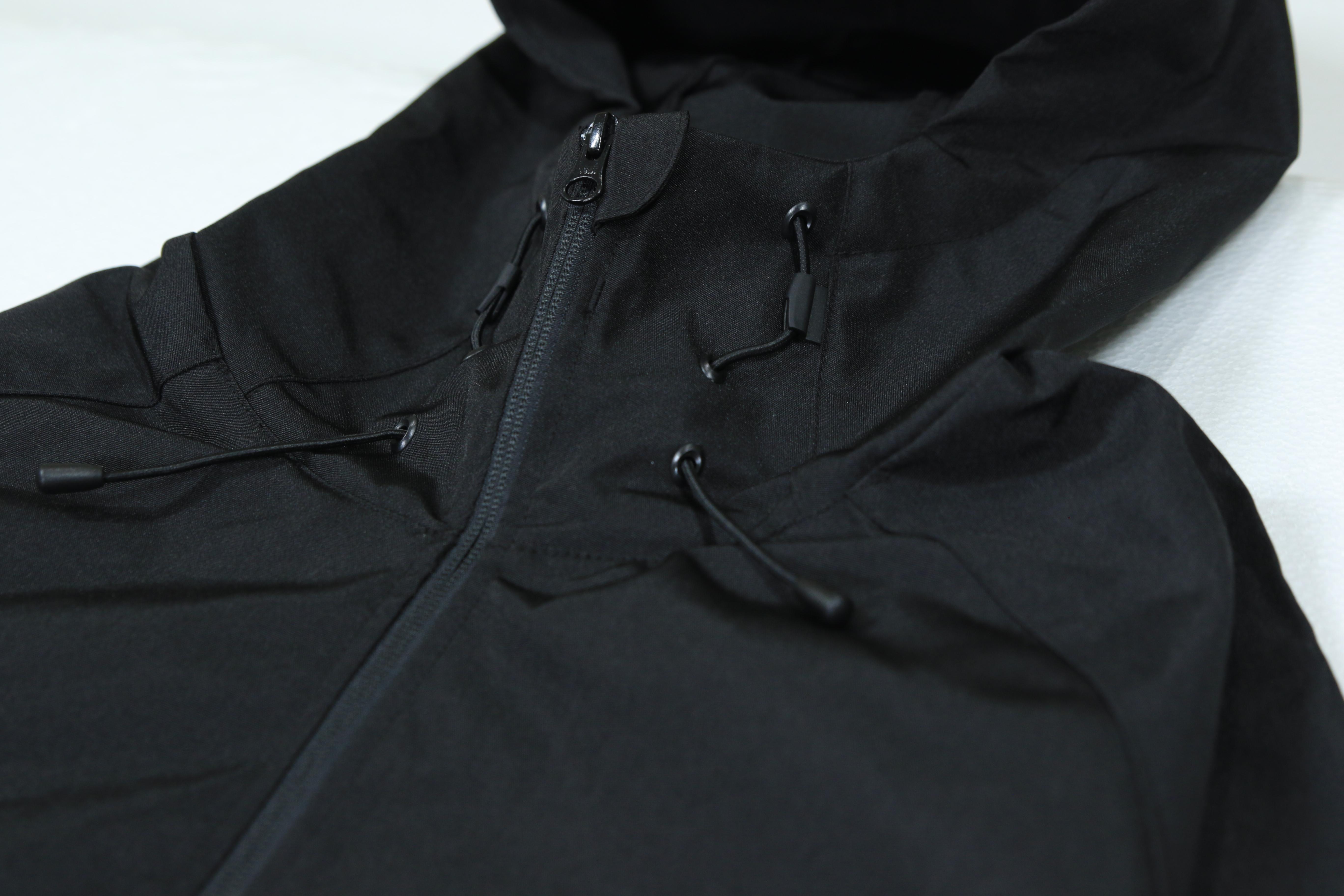 LOGO Water-repellent PARKA SHELL [BLACK/BLACK]