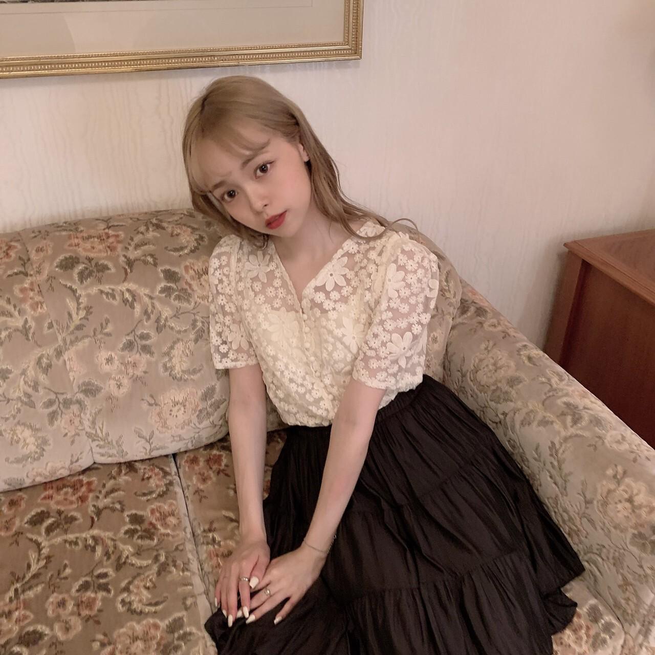 【meltie】dressy flower blouse