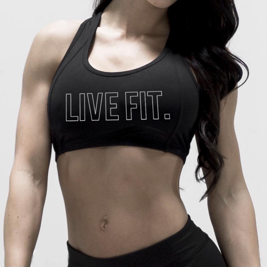 LIVE FIT Outline Sports Bra- Black