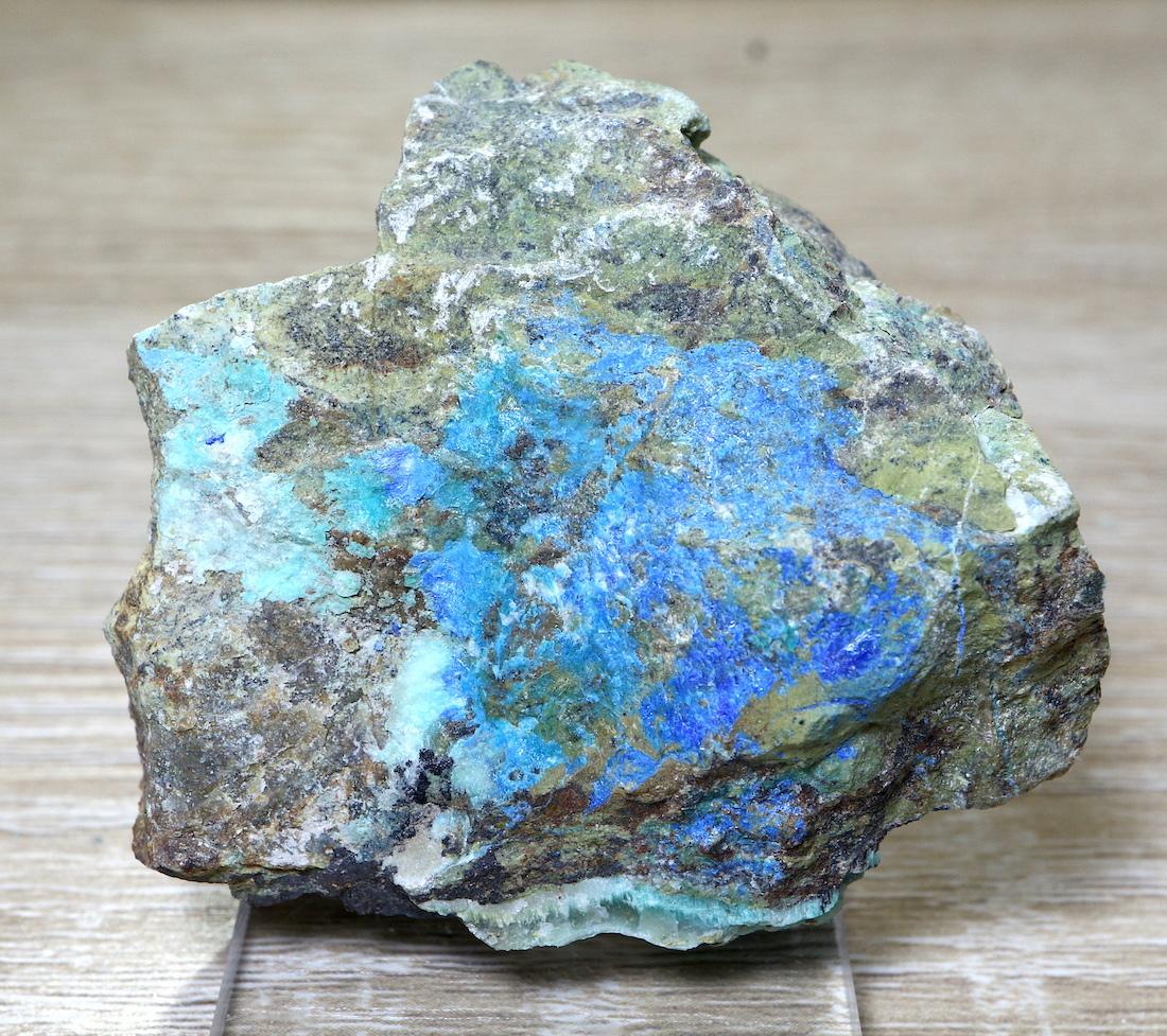 リナライト & カレドナイト 青鉛鉱 カレドニア石 92,4g LN035 鉱物 原石 天然石 パワーストーン