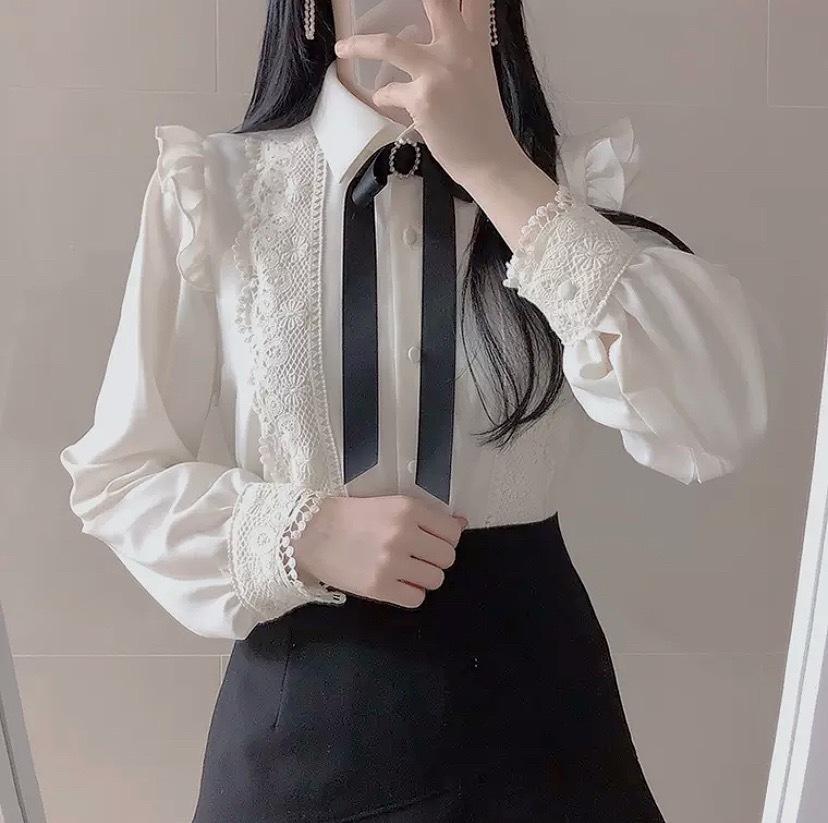 bijou ribbon blouse