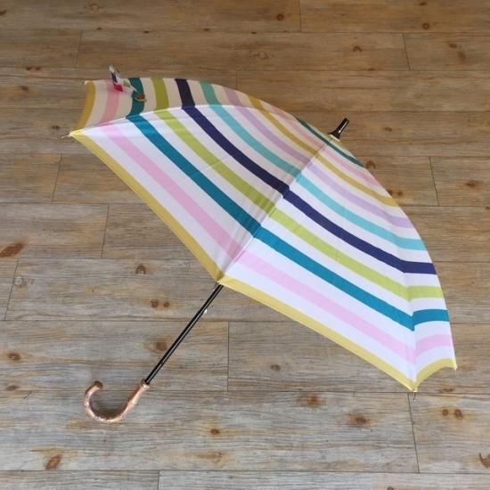 北欧デザイン日傘(晴雨兼用)  ショートタイプ   pastel stripe