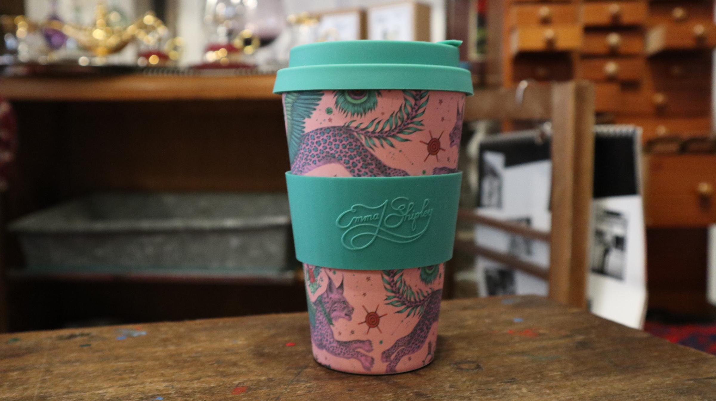 Emma.J.Shipley Ecoffee Cup : LYNX 400ml