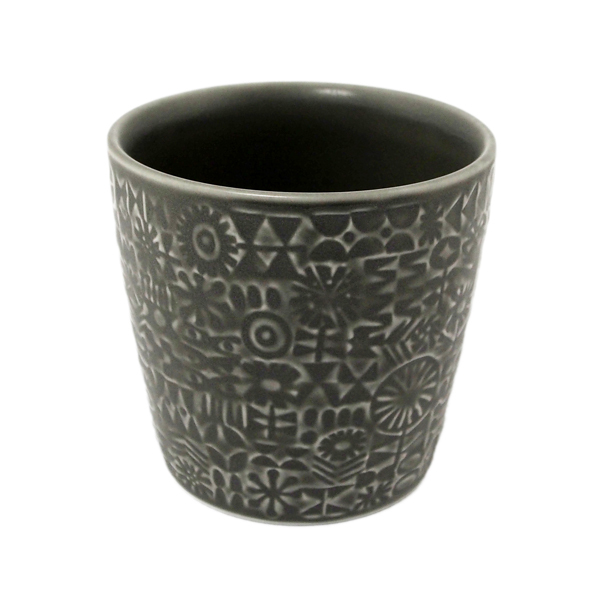 BIRDS' WORDS Patterned Cup ash gray