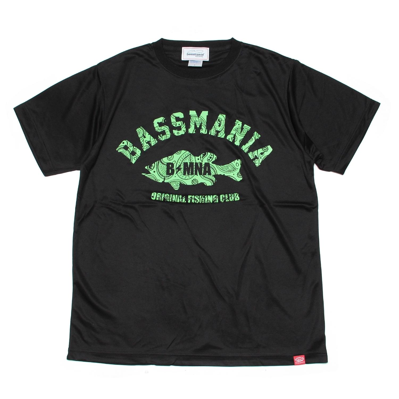 ペイズリーアーチ dry Tシャツ  [BLK]