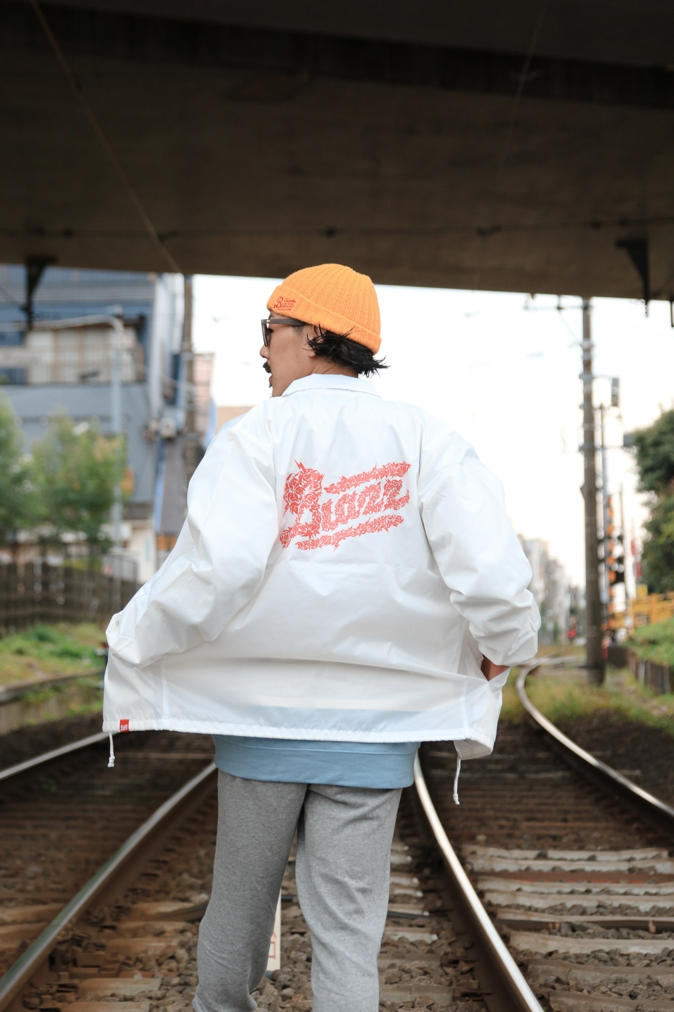 FLOWER by ATOMONE COACH JACKET [WHITE]