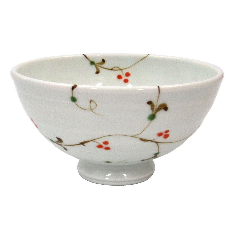 波佐見焼 感器工房 一誠陶器 ふわり 軽量 飯碗 茶碗 小 約11cm 木の実唐草 23445