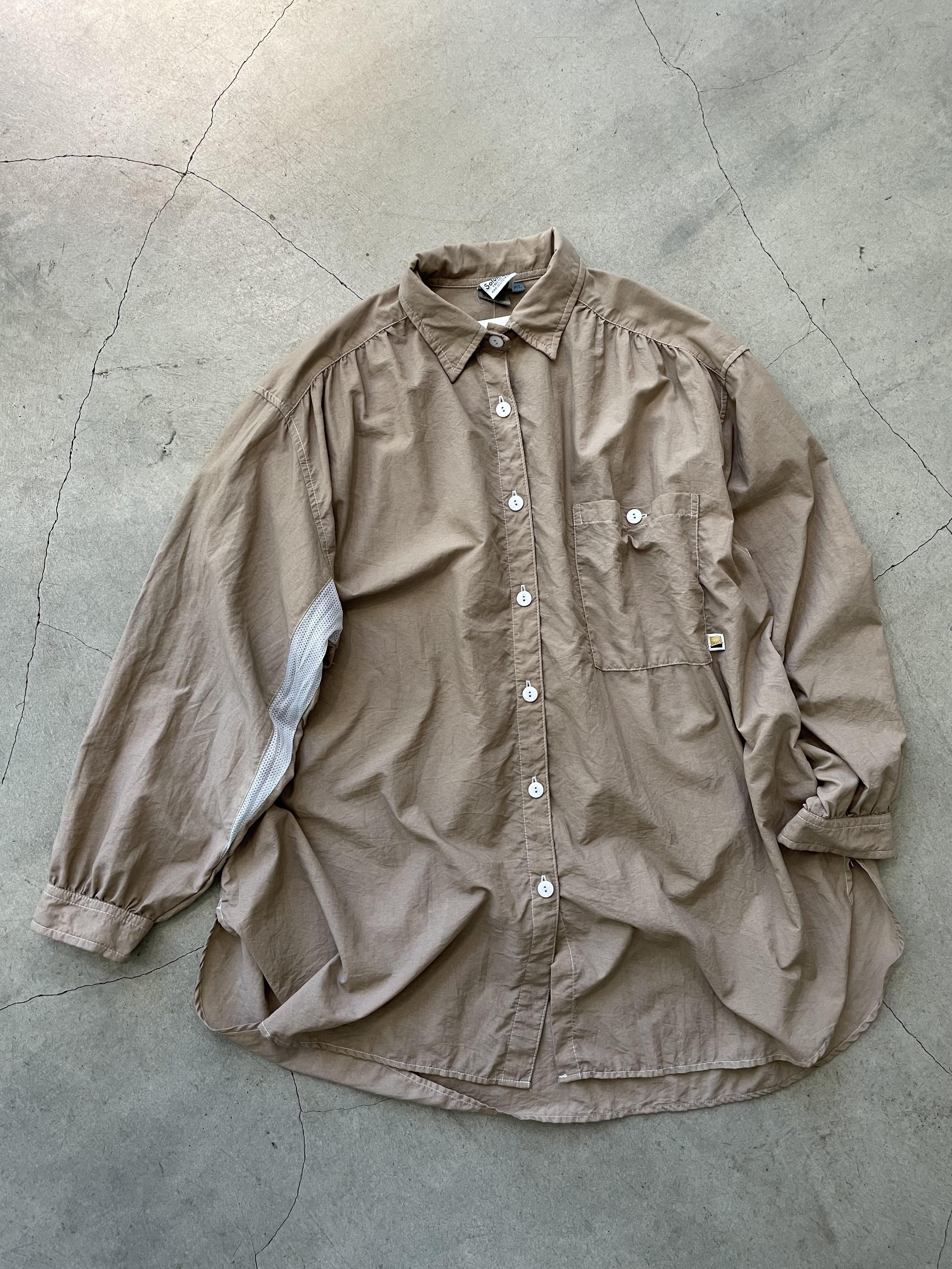 vintage mesh sleeve big shirt