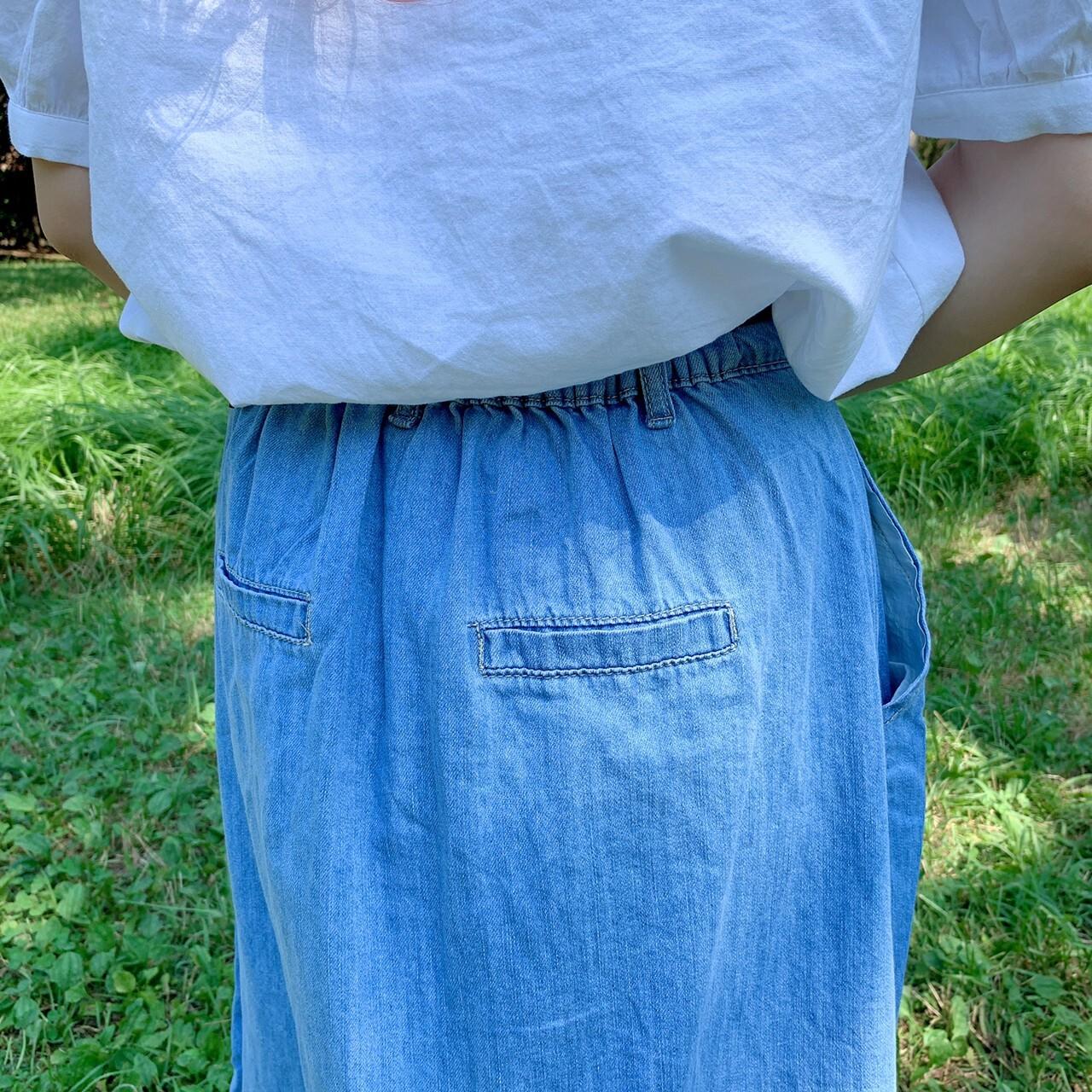 【ももはな】casual denim skirt