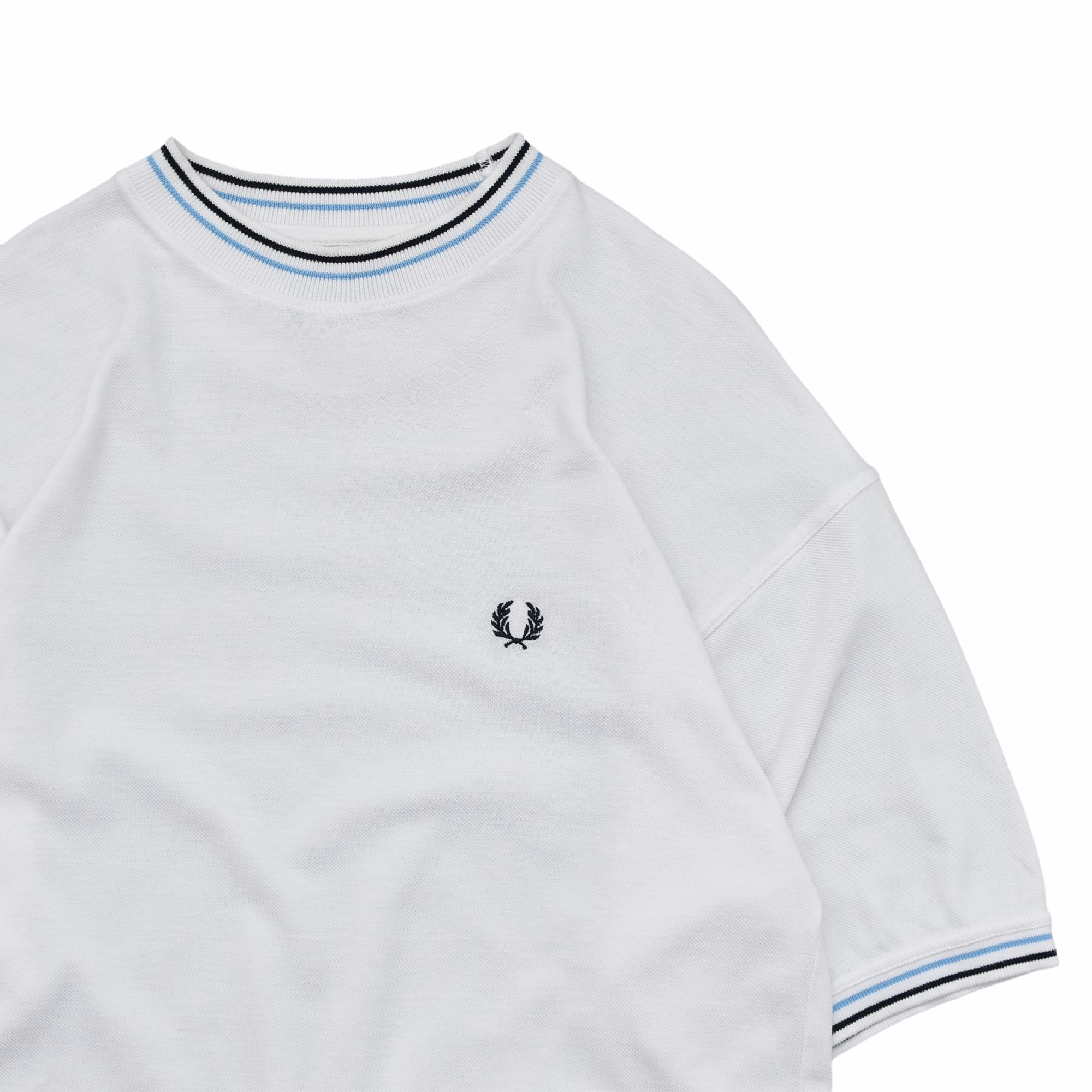 90's FRED PERRY moss stitch T shirt Made in Portugal