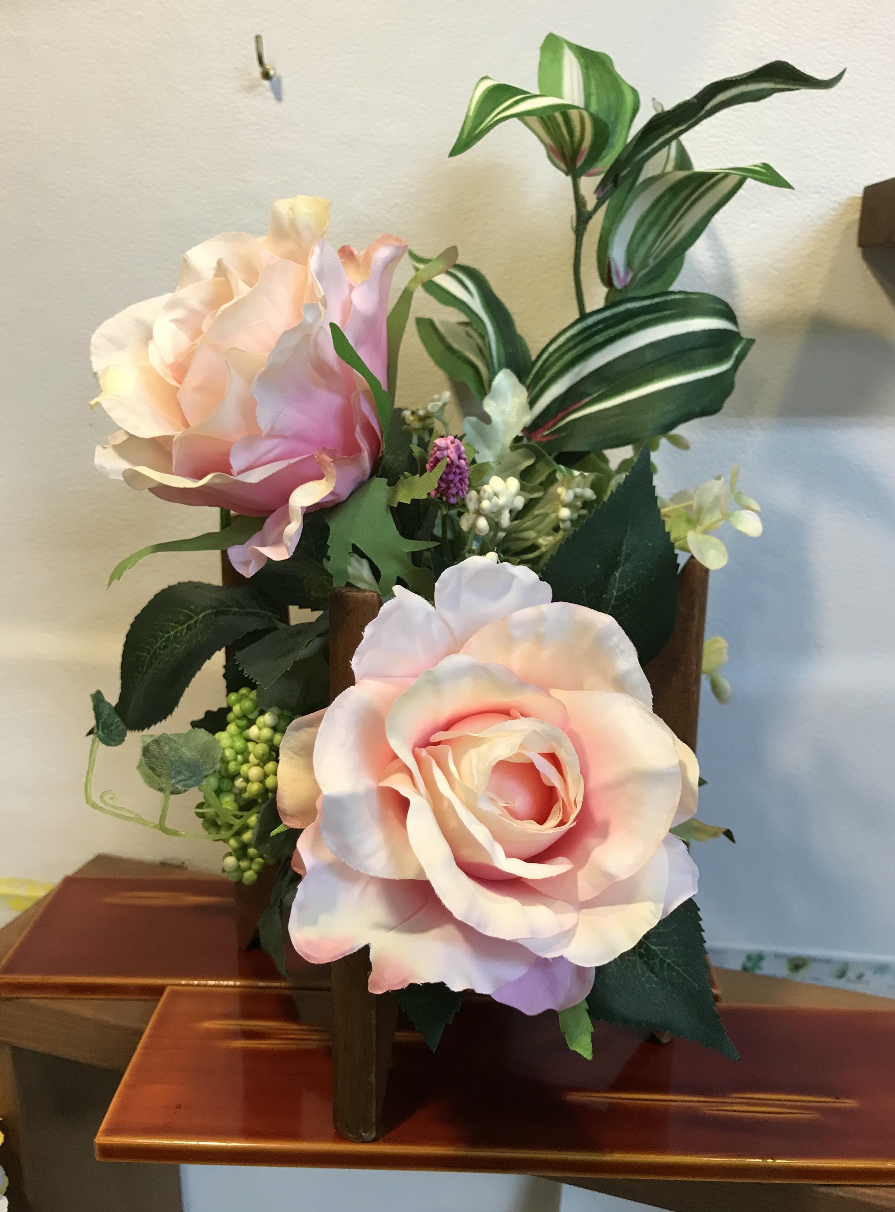 糸枠アレンジ【バラ】B