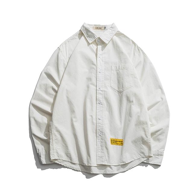 【UNISEX】アウトドア シンプル カラーシャツ【2colors】