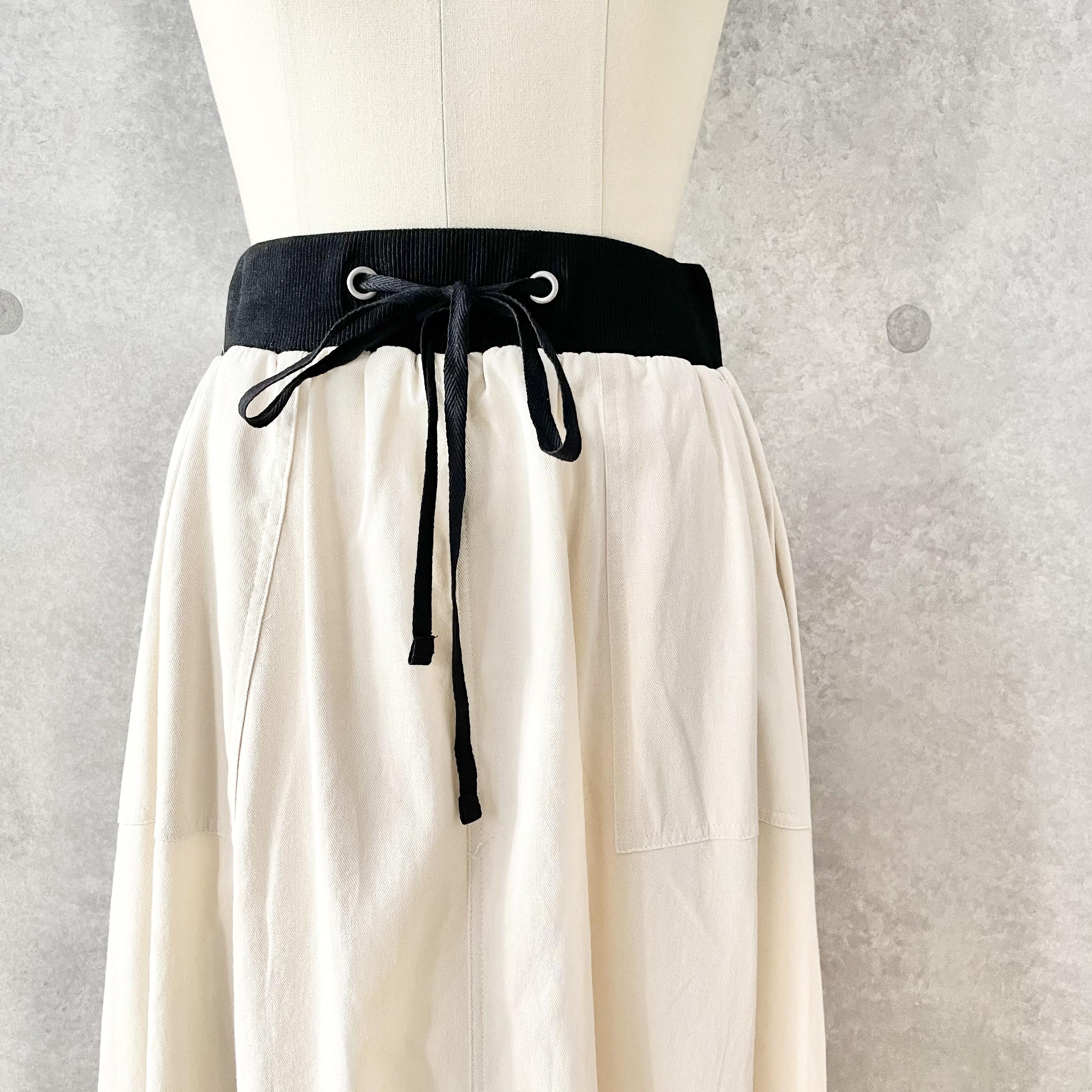 バイカラーフレアスカート