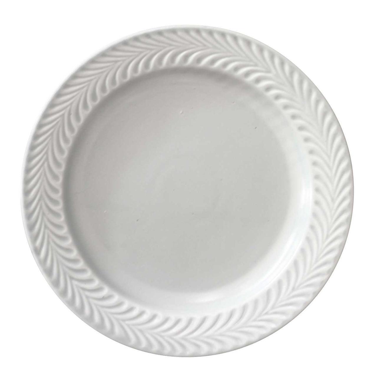 波佐見焼 翔芳窯 ローズマリー リムプレート 皿 17.5cm マットグレー
