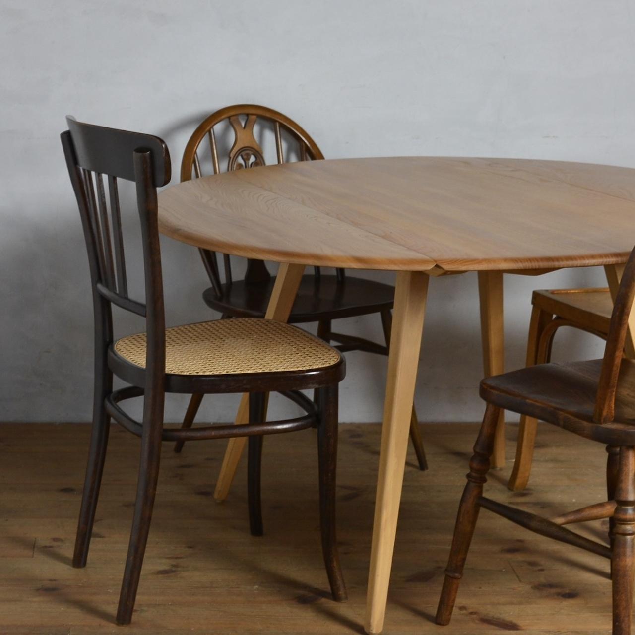 Ercol Oval Drop Leaf Table / アーコール ドロップ リーフ テーブル〈ダイニングテーブル・エクステンションテーブル伸張式・円卓・北欧〉 112315