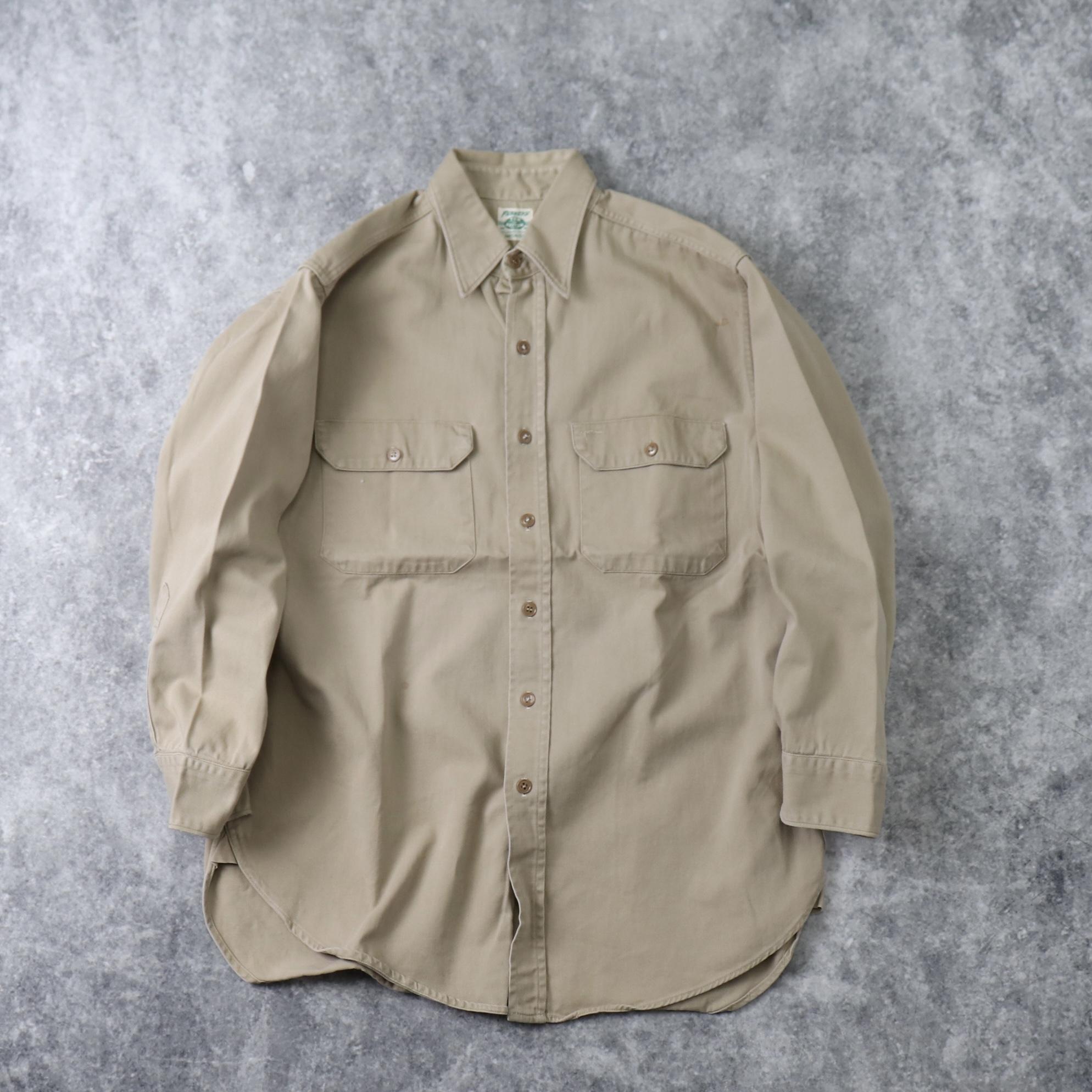 50's Penny's TOP-N-BOTTOM Work shirts 50年代 ワークシャツ J.C.Penny ペニーズ トップボトム  A662