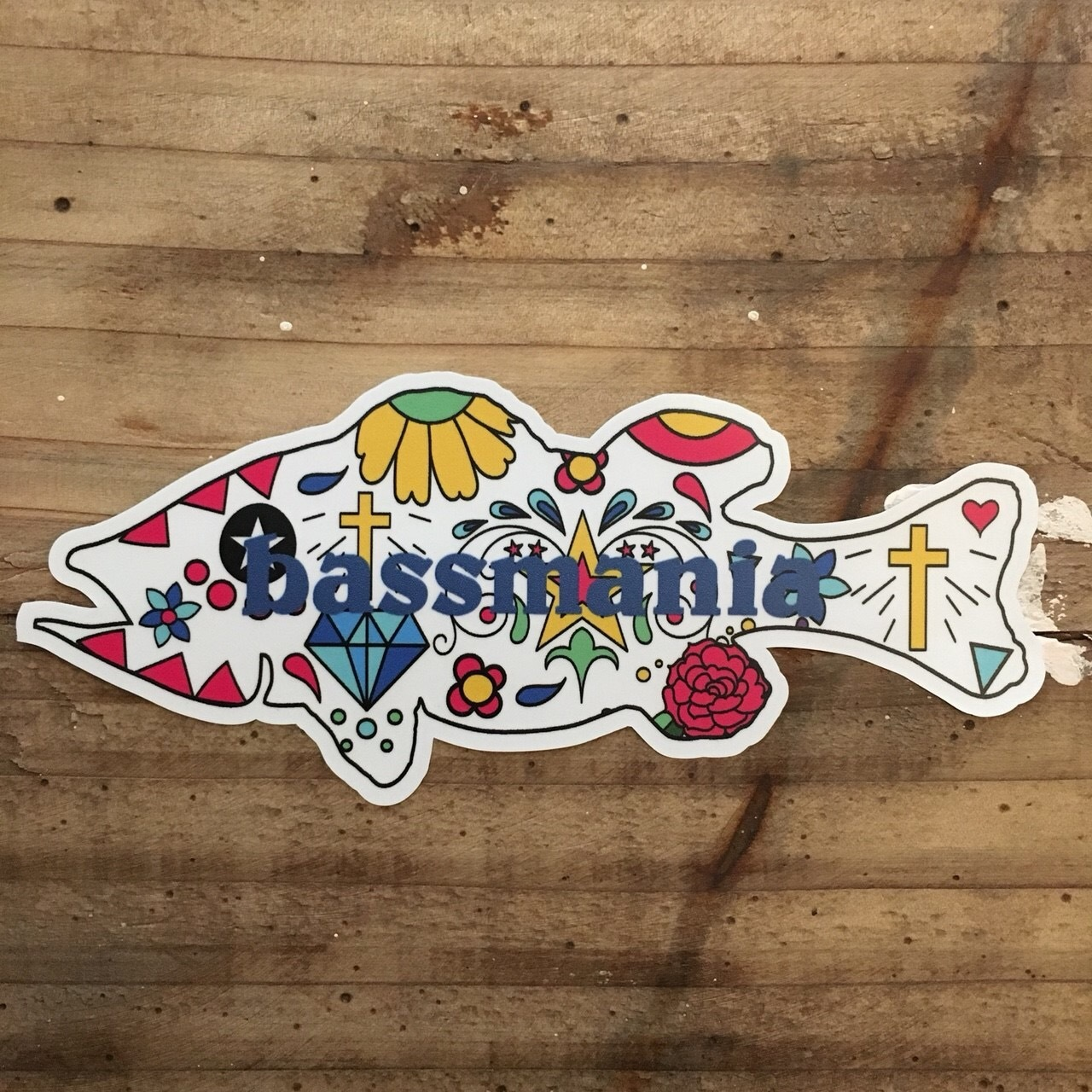Mexican bass sticker