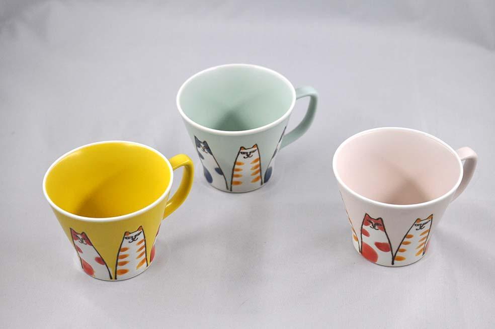猫山 マグカップ 三色