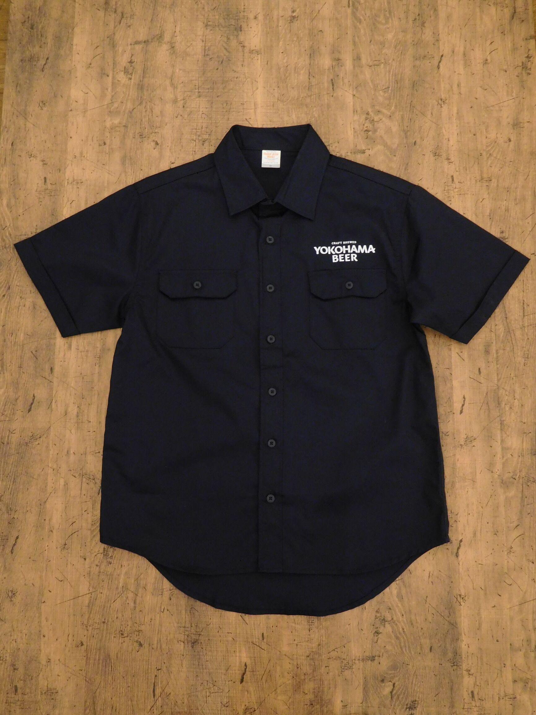 YOKOHAMA BEERロゴ work shirt