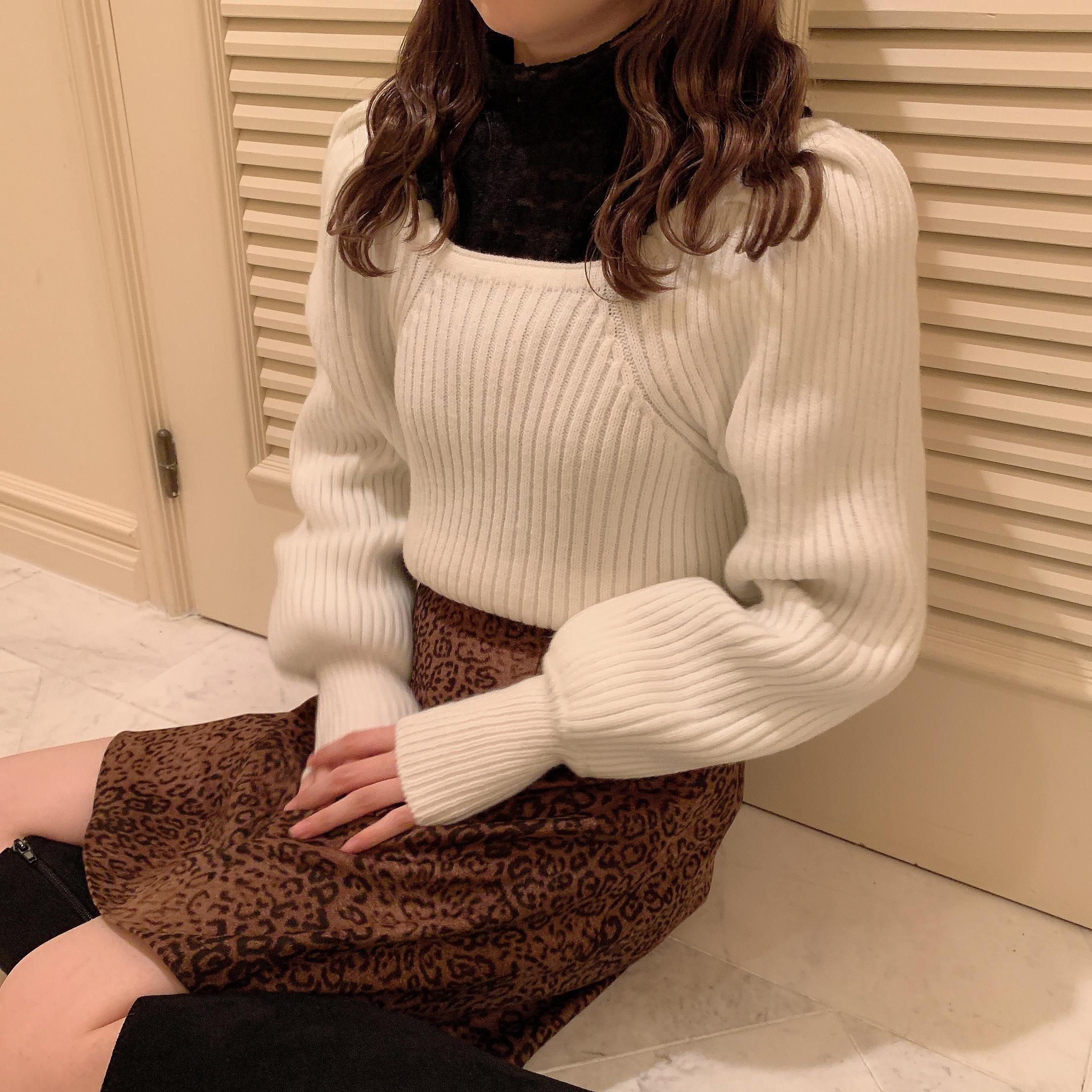 volume rib knit