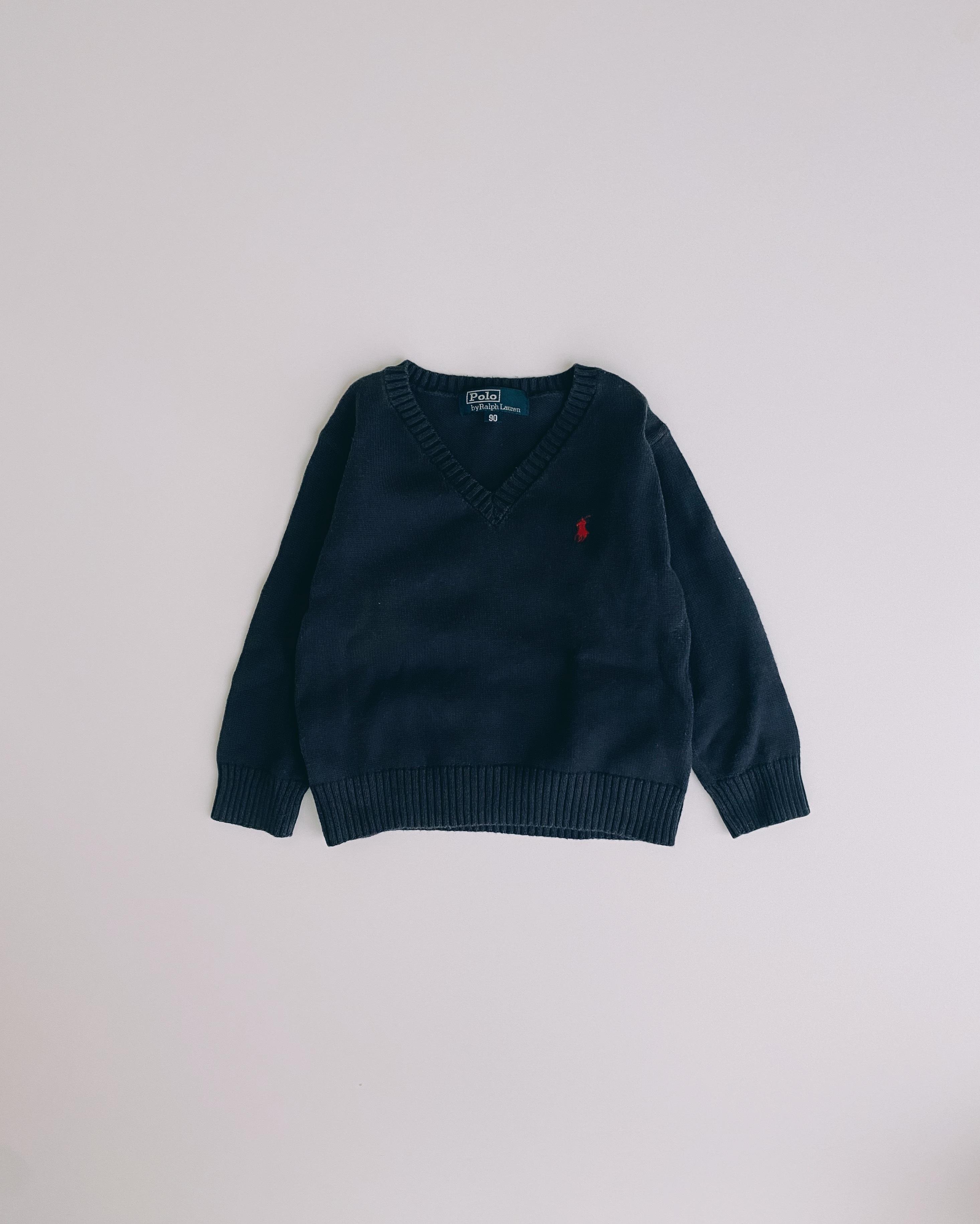 (KD200)90cm Polo Ralph Lauren cotton Vneck knit