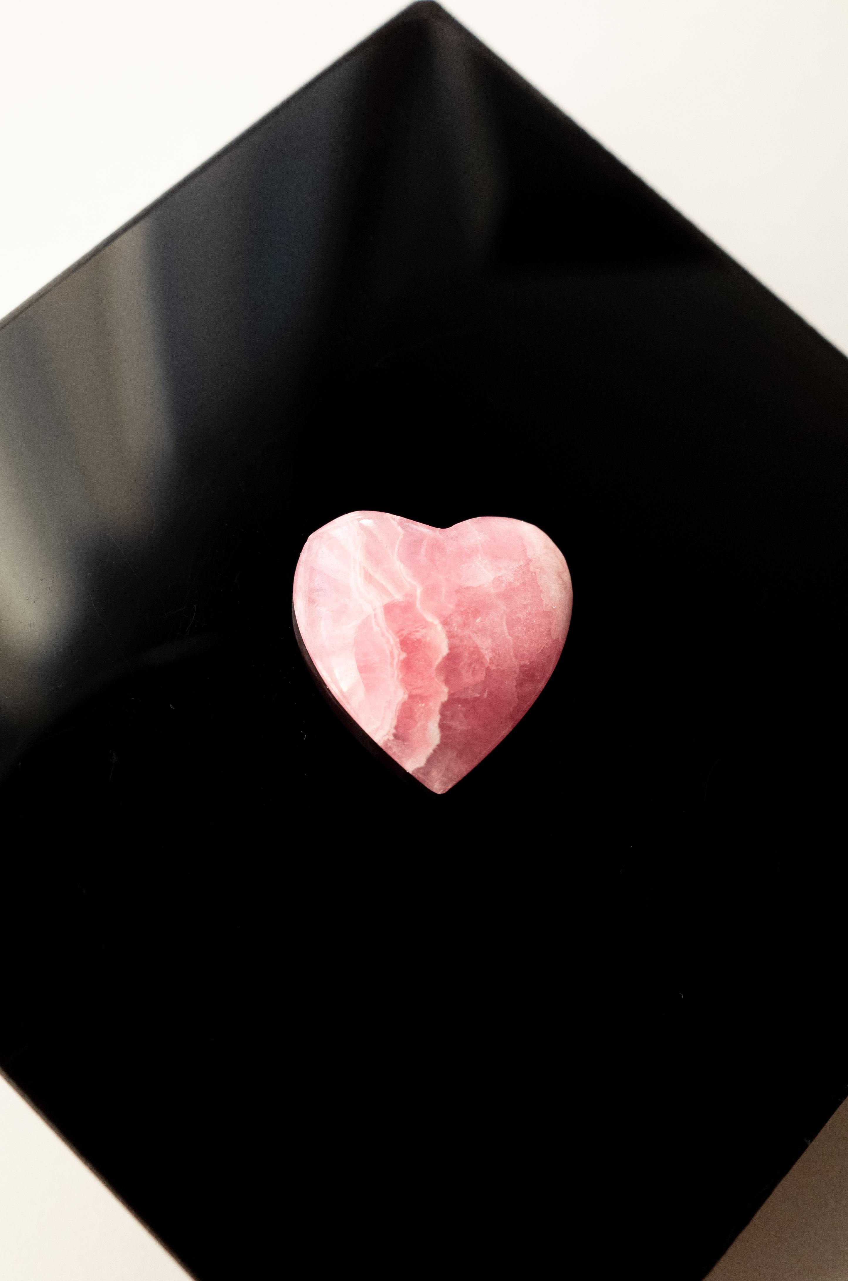 Heart shaped Rhodochrosite