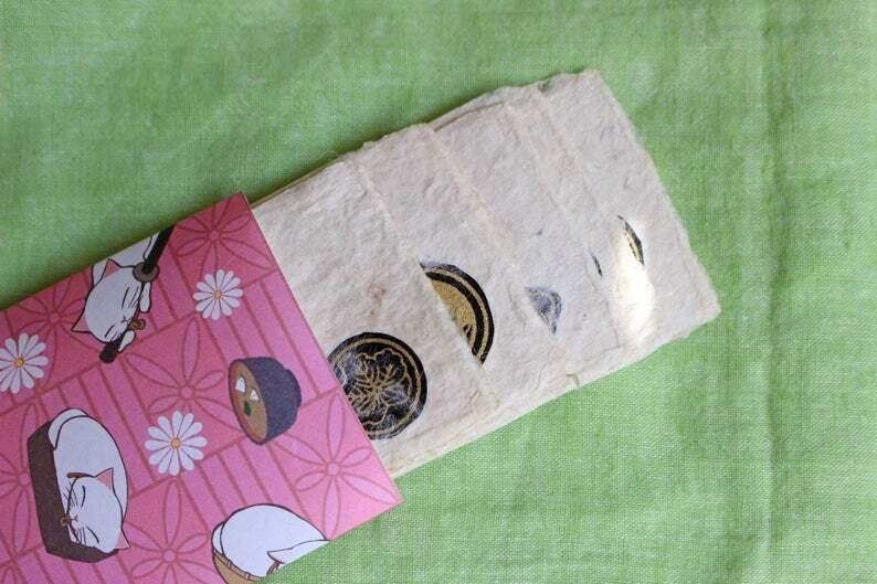 家紋入り名刺サイズ和紙ギフトカード2(封筒付)