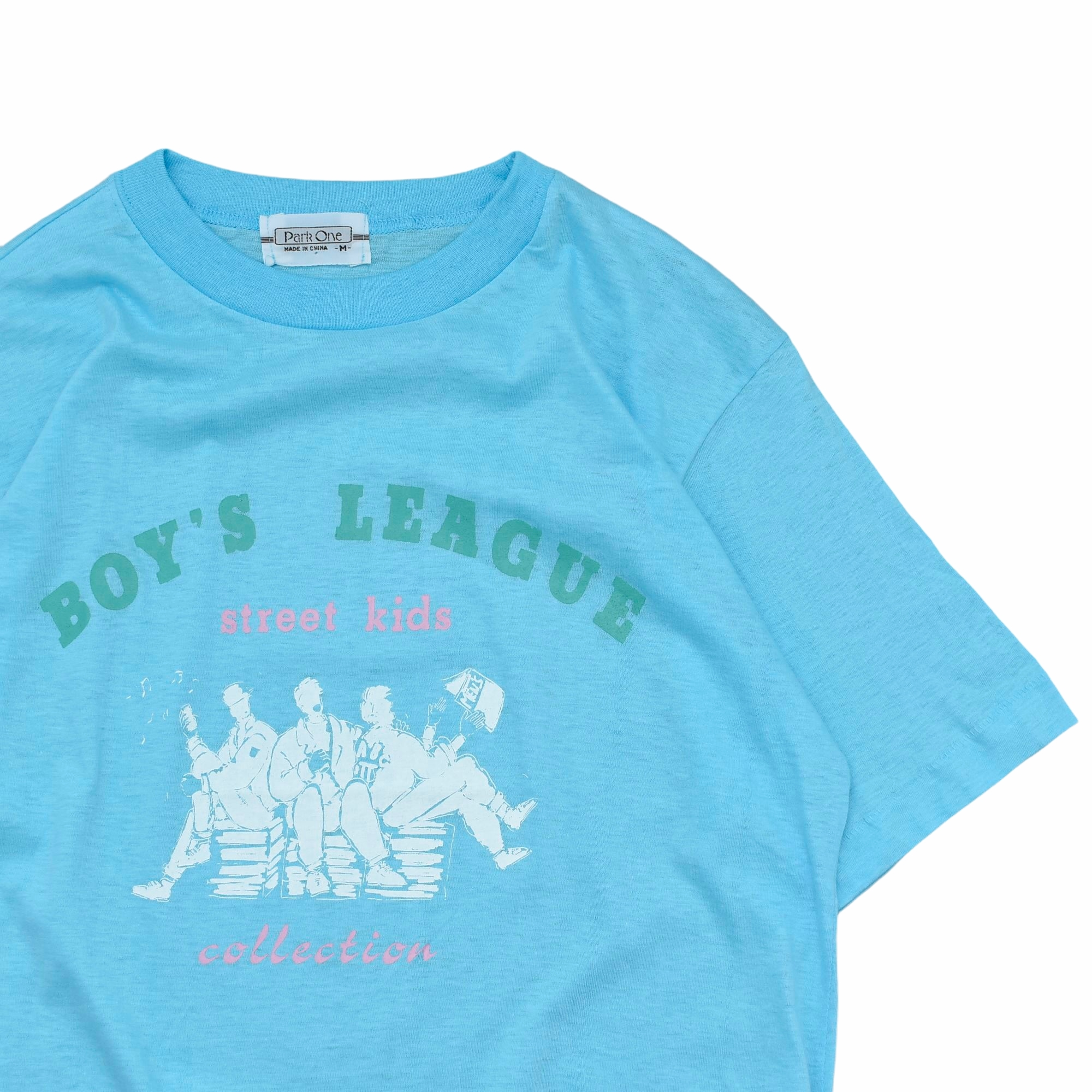 80〜90's vtg illustration print T shirt