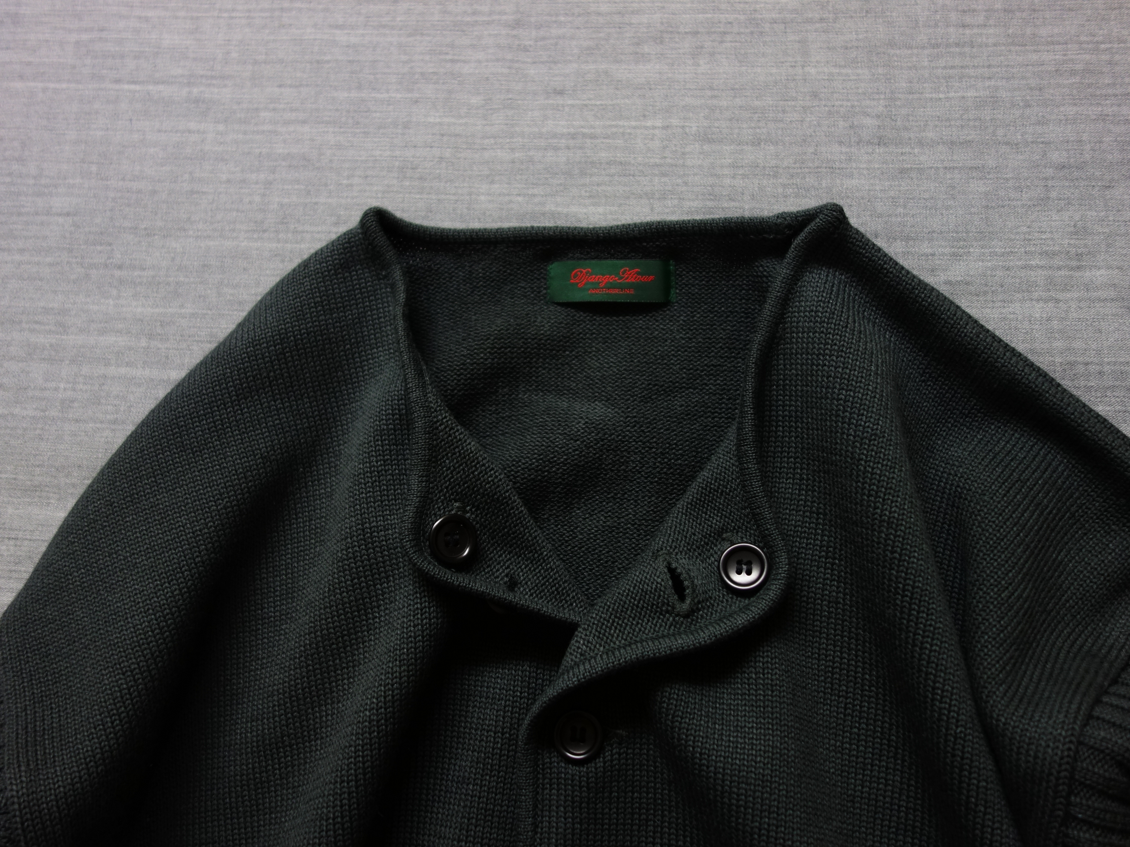 frenchworkers knit cardigan / charcoalgrey