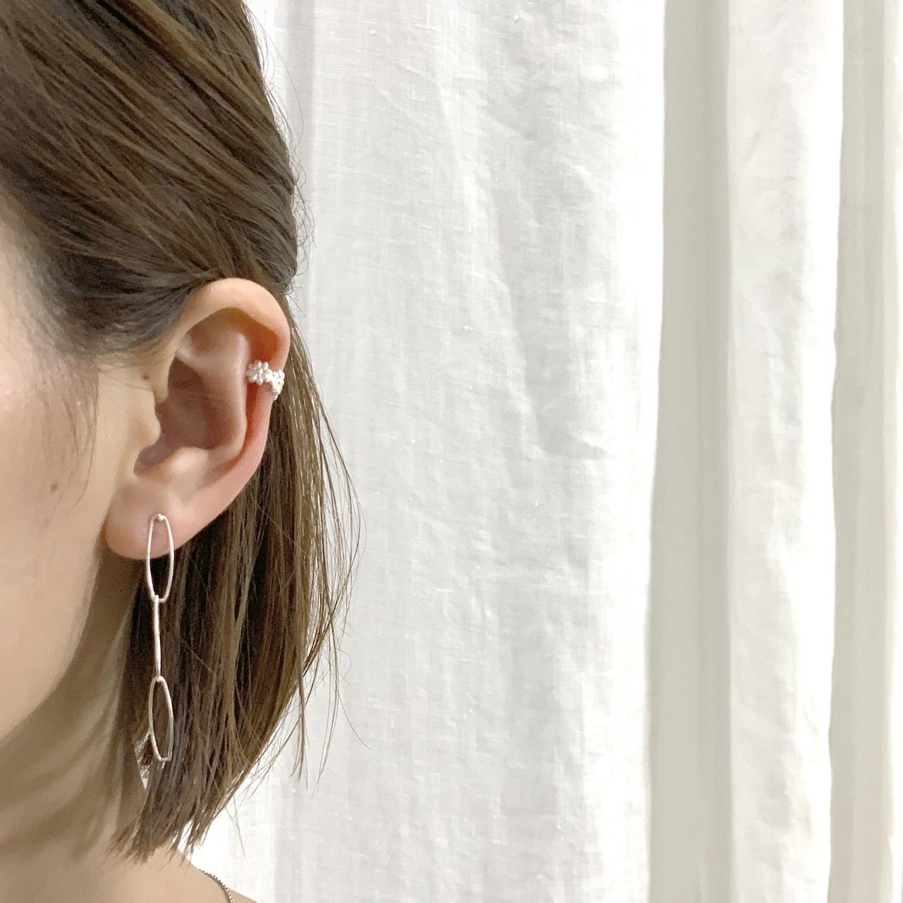 Flower cut Earcuff【silver925】 フラワーカットイヤーカフ #SP0197【STELLAPARK】